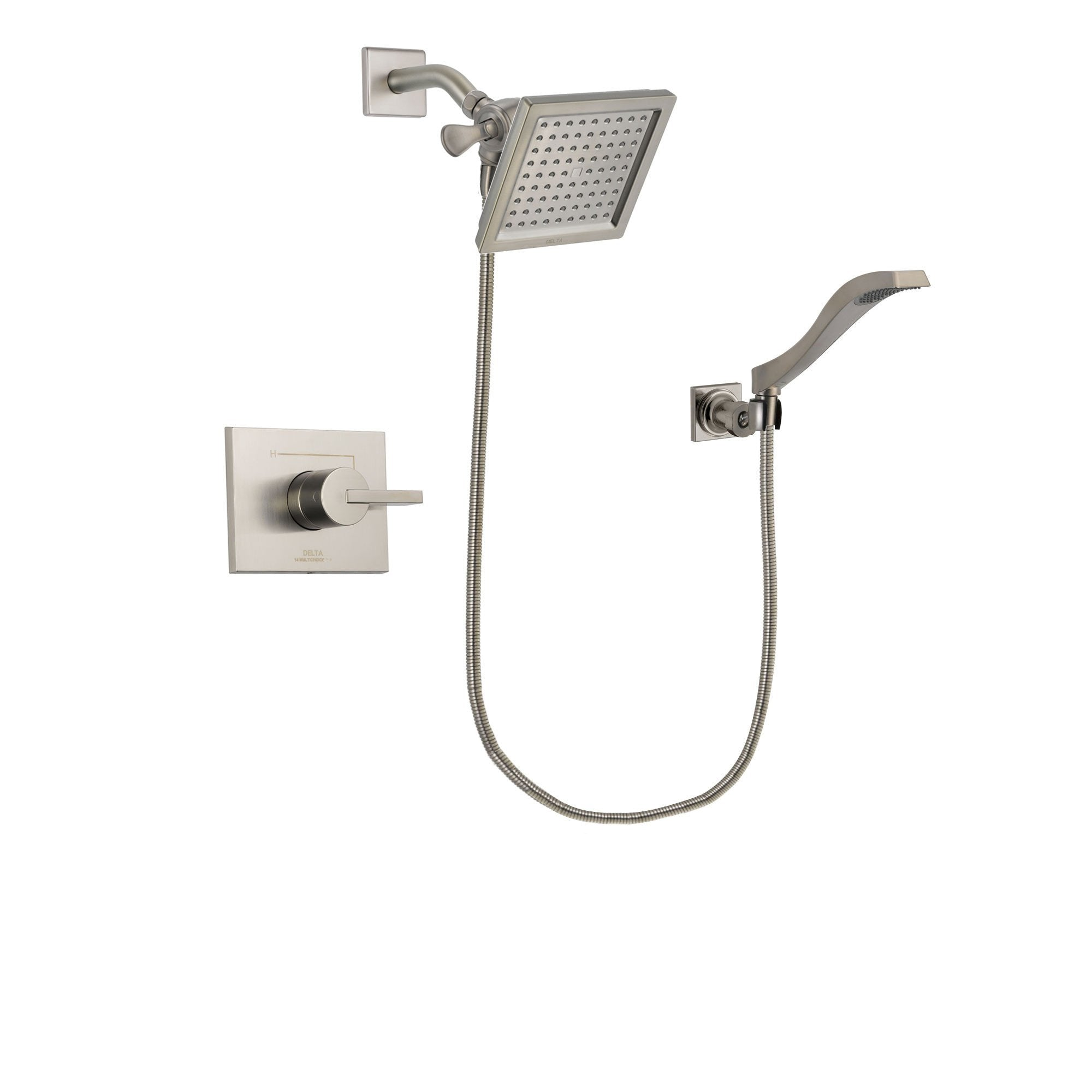 Delta Vero Stainless Steel Finish Shower Faucet System with Hand Shower DSP2084V