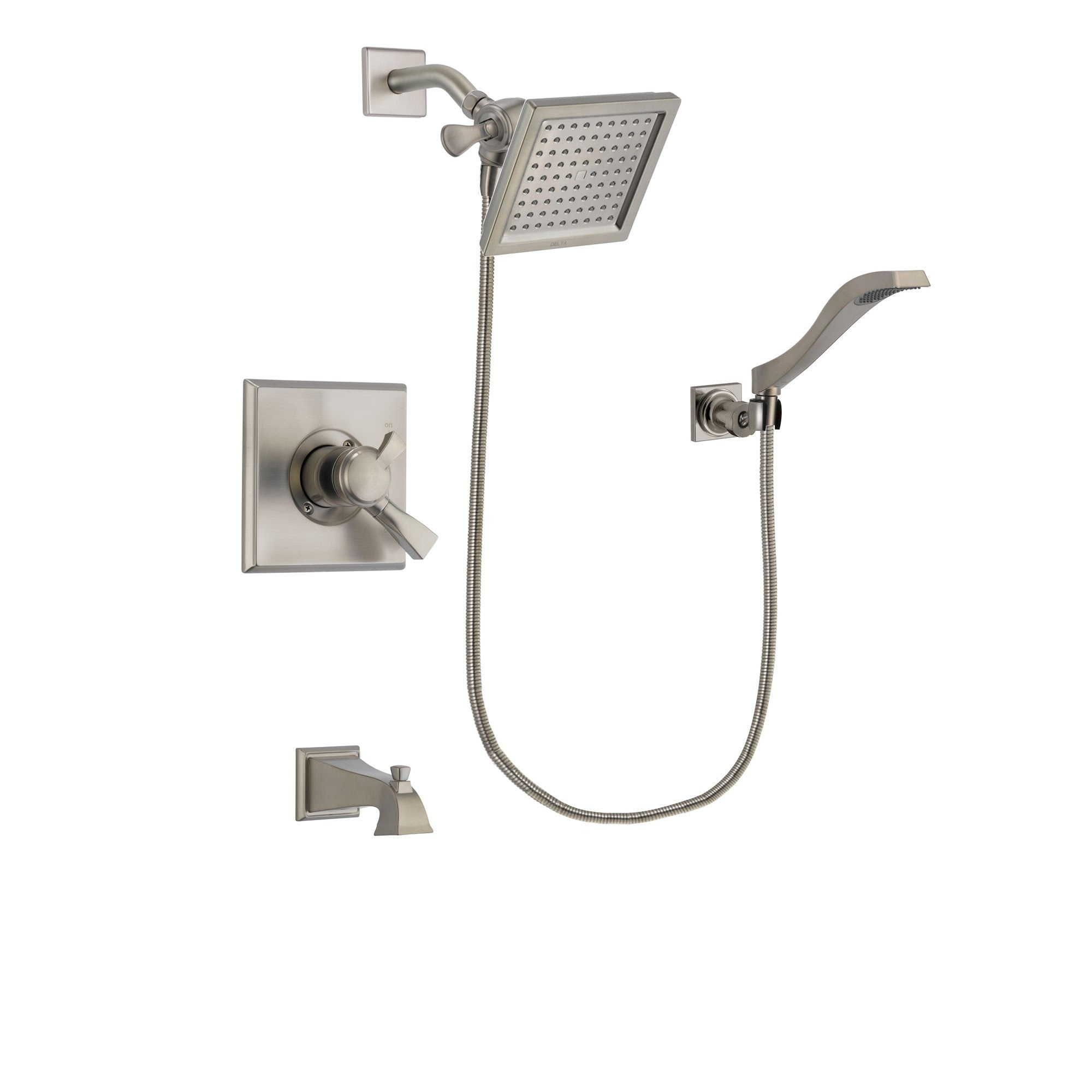 Delta Dryden Stainless Steel Finish Tub and Shower System w/Hand Shower DSP2087V