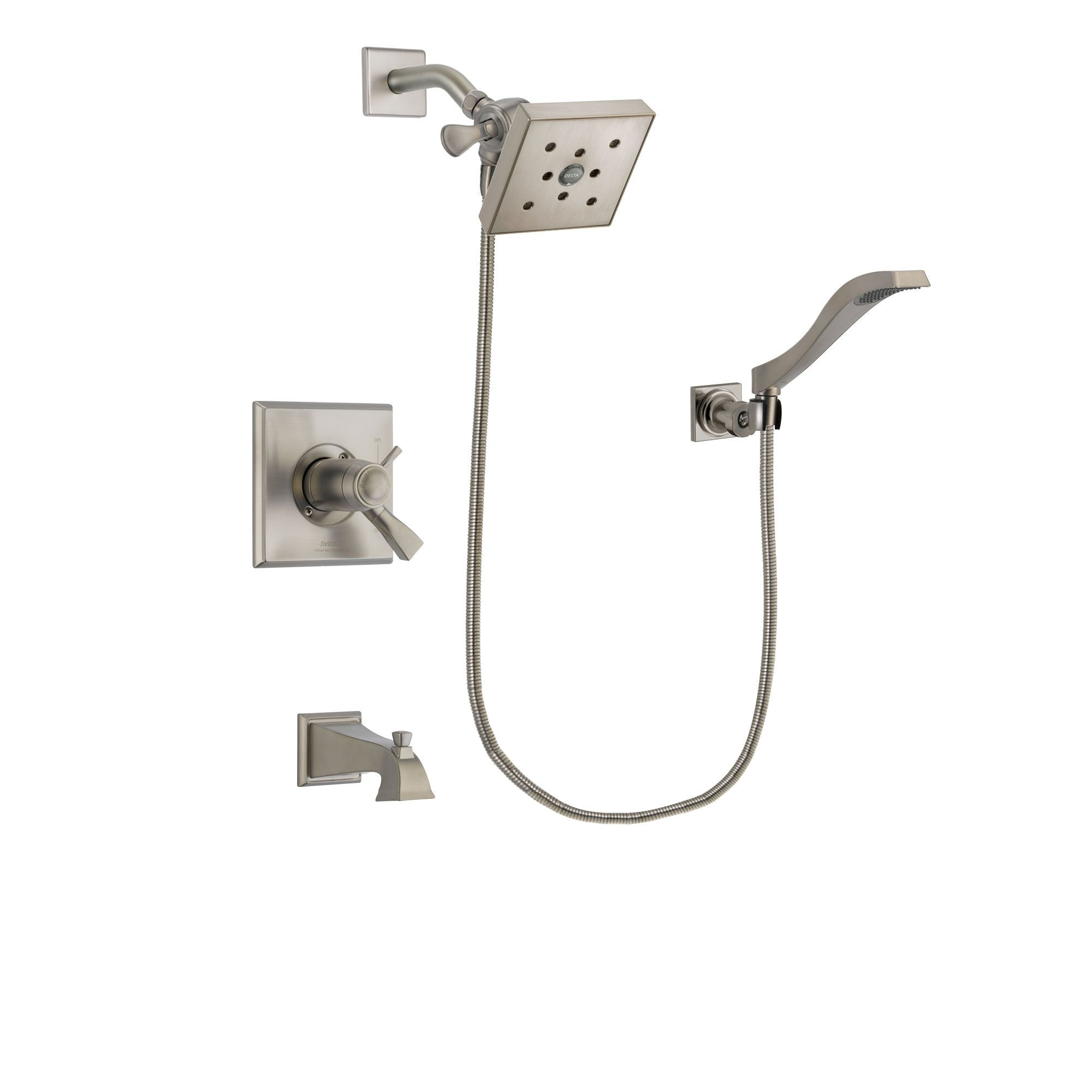 Delta Dryden Stainless Steel Finish Tub and Shower System w/Hand Shower DSP2093V