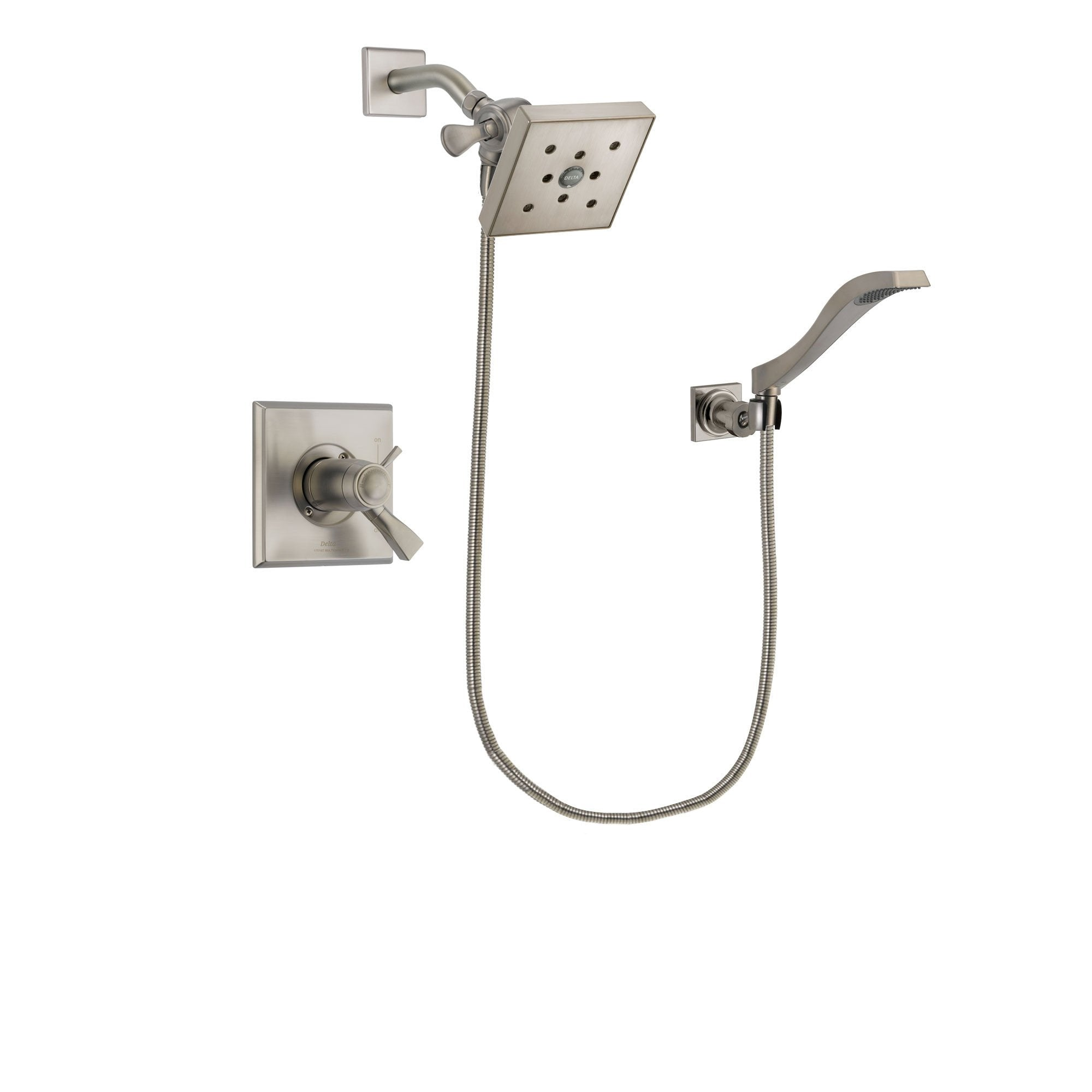Delta Dryden Stainless Steel Finish Shower Faucet System w/ Hand Spray DSP2094V