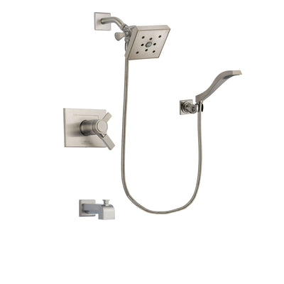 Delta Vero Stainless Steel Finish Tub and Shower System with Hand Spray DSP2095V