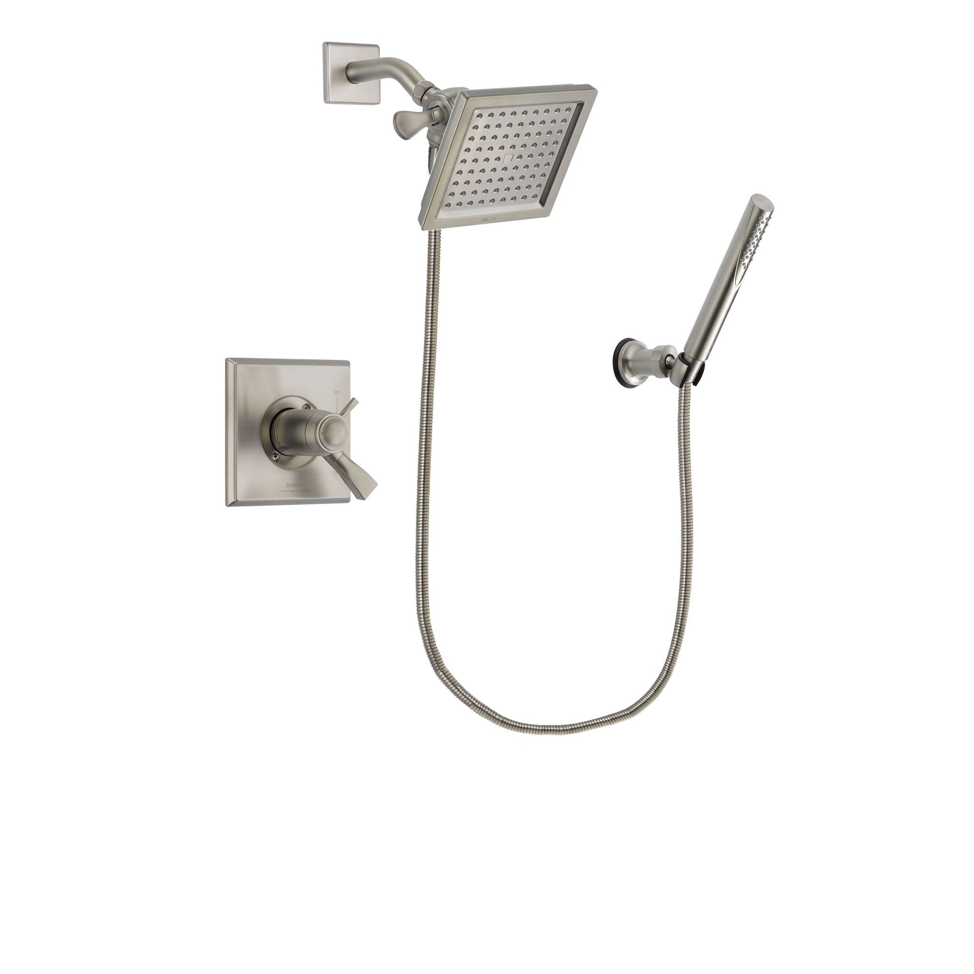 Delta Dryden Stainless Steel Finish Shower Faucet System w/ Hand Spray DSP2130V