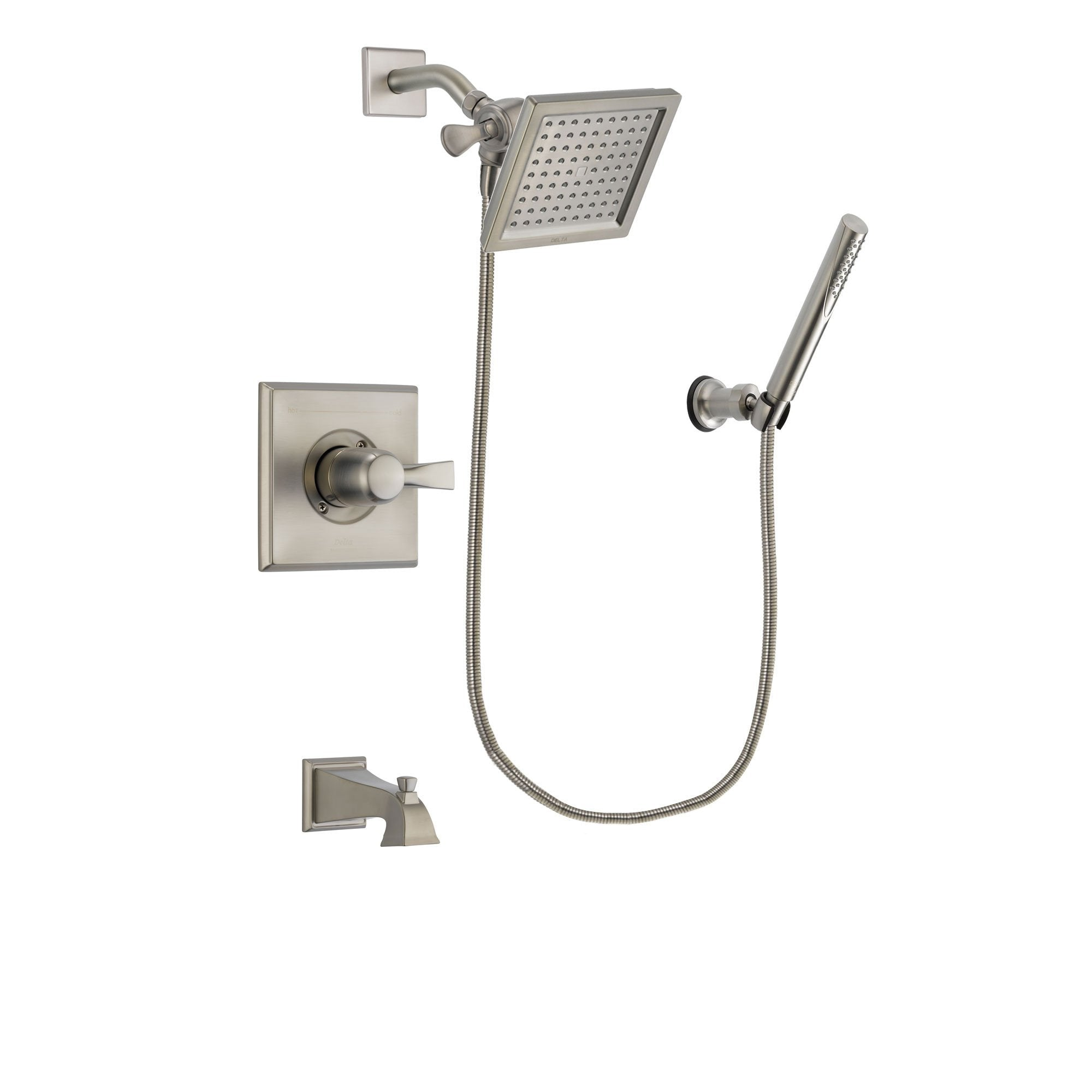 Delta Dryden Stainless Steel Finish Tub and Shower System w/Hand Shower DSP2135V