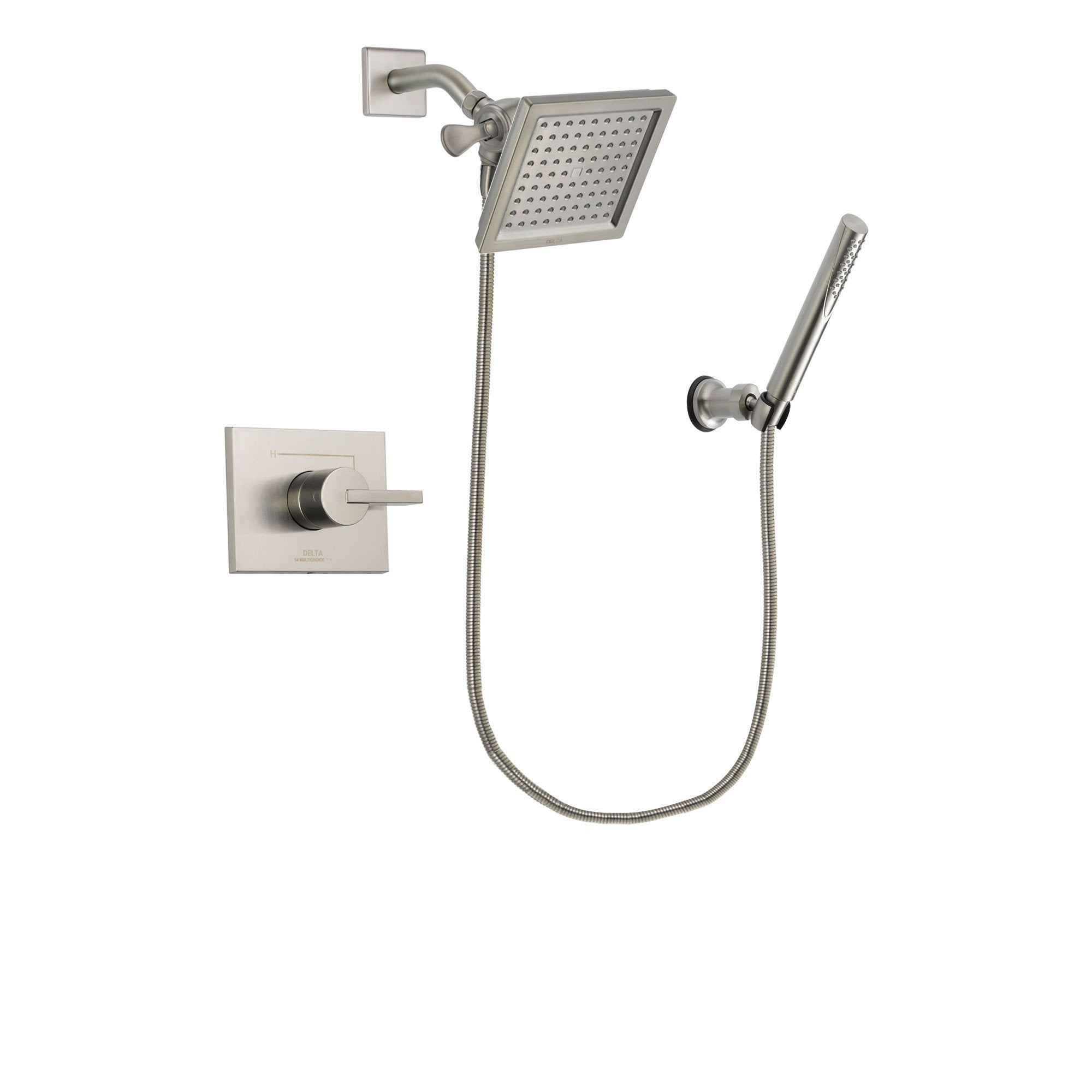 Delta Vero Stainless Steel Finish Shower Faucet System with Hand Shower DSP2138V