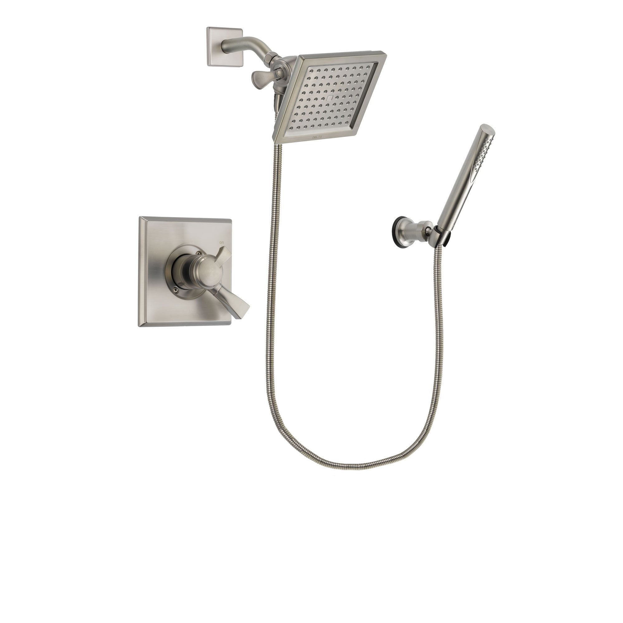 Delta Dryden Stainless Steel Finish Shower Faucet System w/ Hand Spray DSP2142V