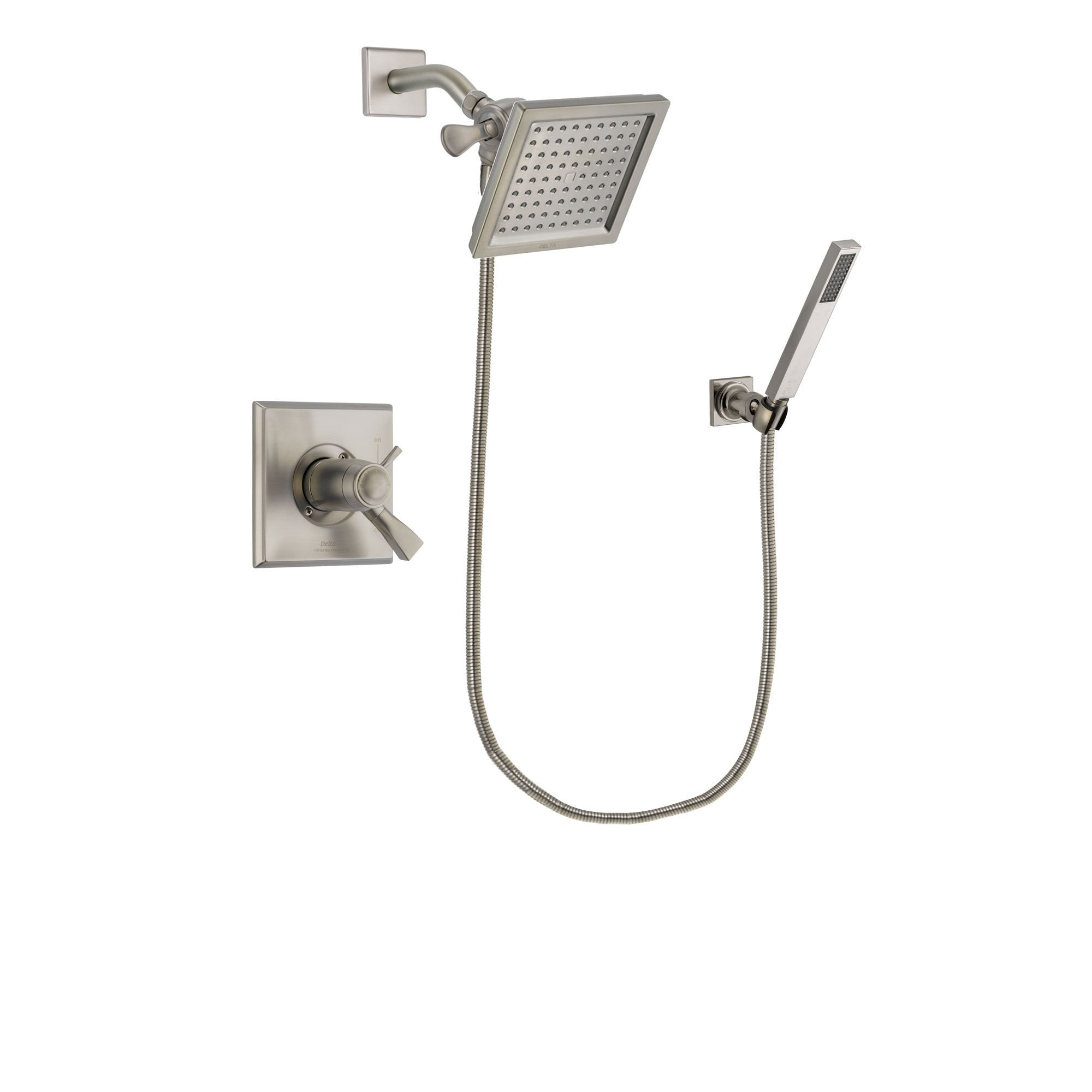Delta Dryden Stainless Steel Finish Shower Faucet System w/ Hand Spray DSP2184V