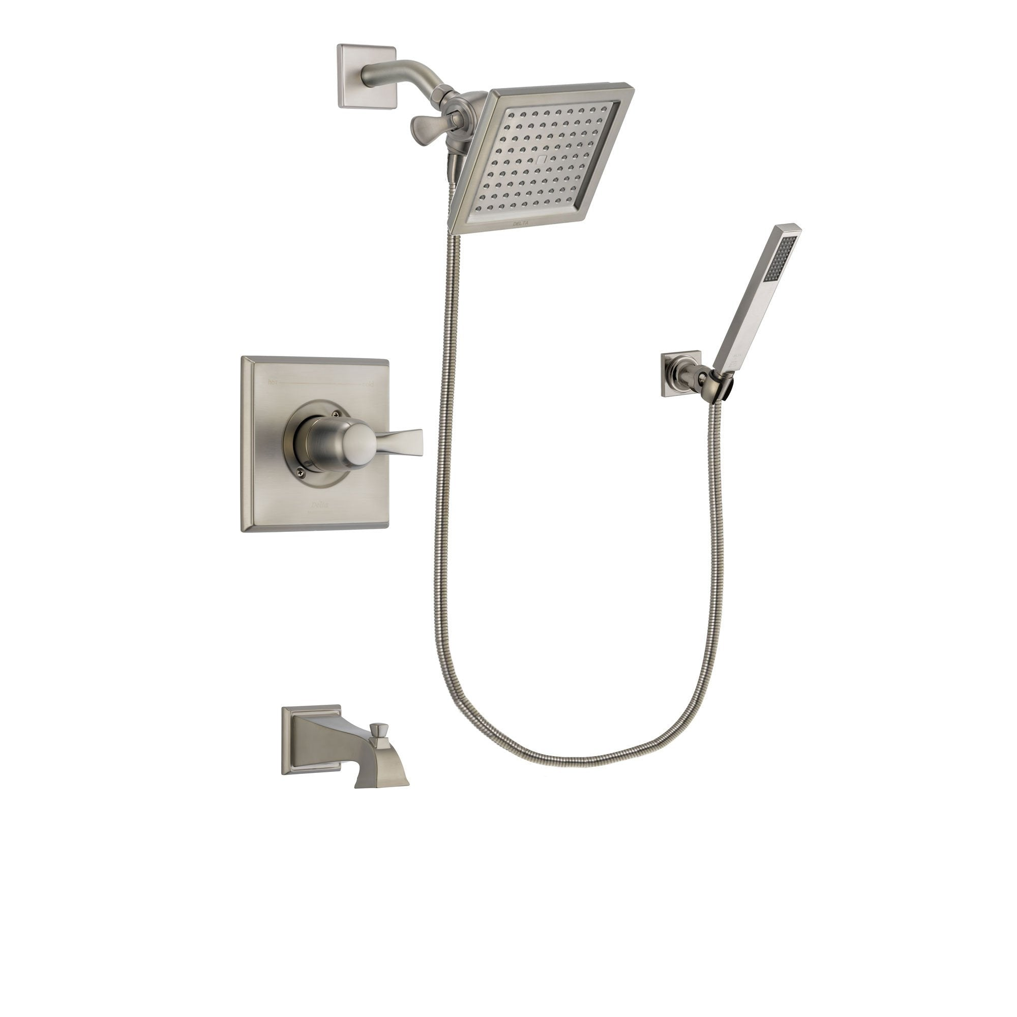 Delta Dryden Stainless Steel Finish Tub and Shower System w/Hand Shower DSP2189V