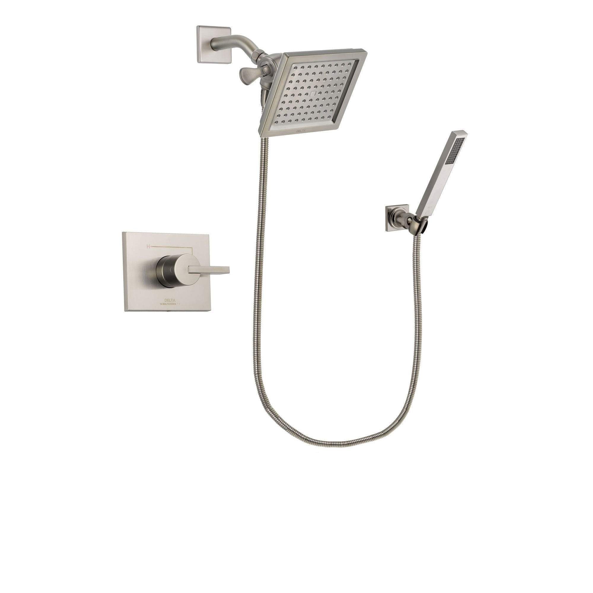 Delta Vero Stainless Steel Finish Shower Faucet System with Hand Shower DSP2192V