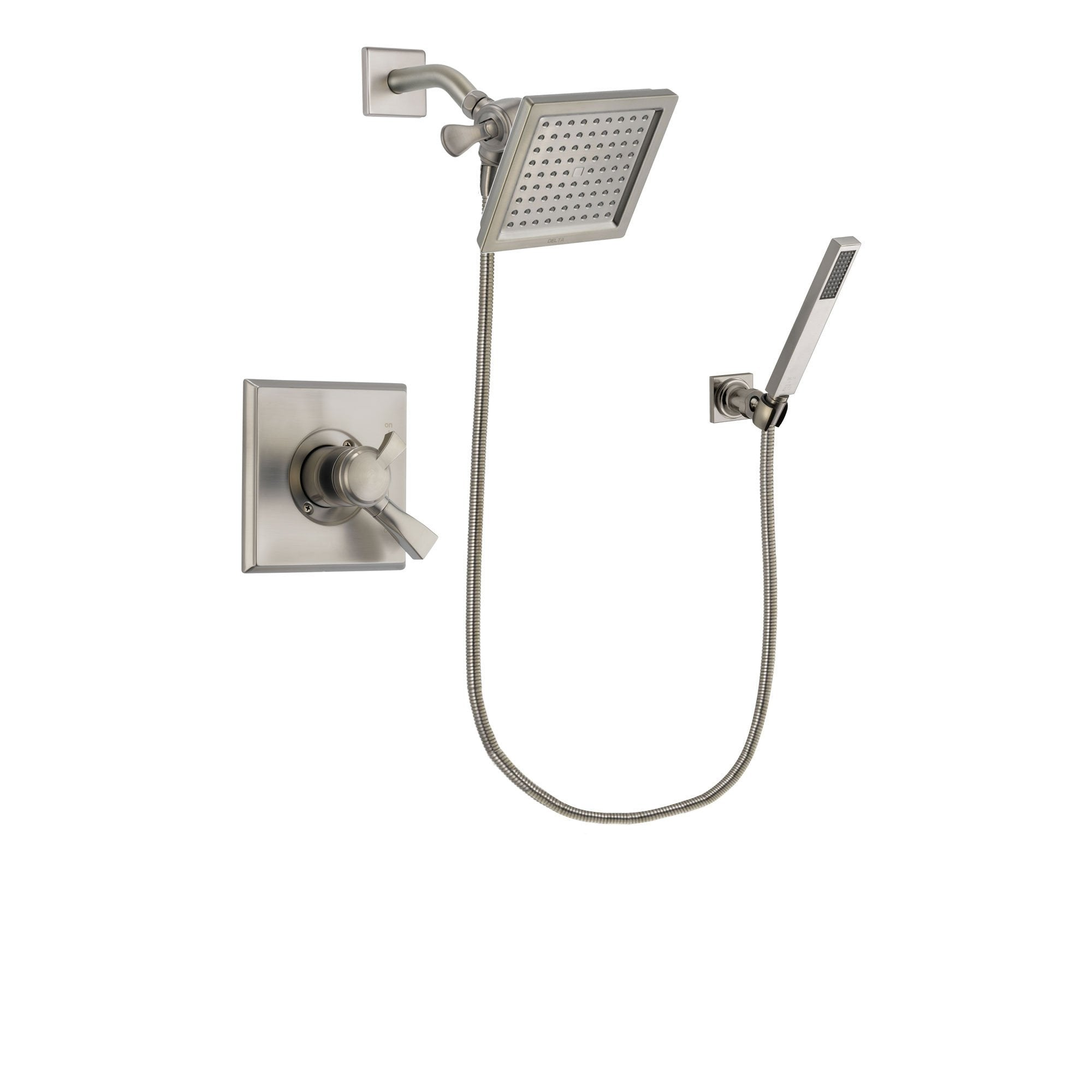 Delta Dryden Stainless Steel Finish Shower Faucet System w/ Hand Spray DSP2196V