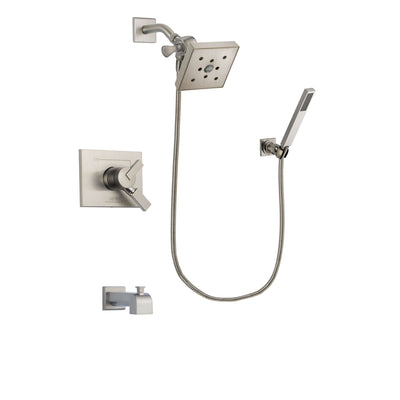 Delta Vero Stainless Steel Finish Tub and Shower System with Hand Spray DSP2215V