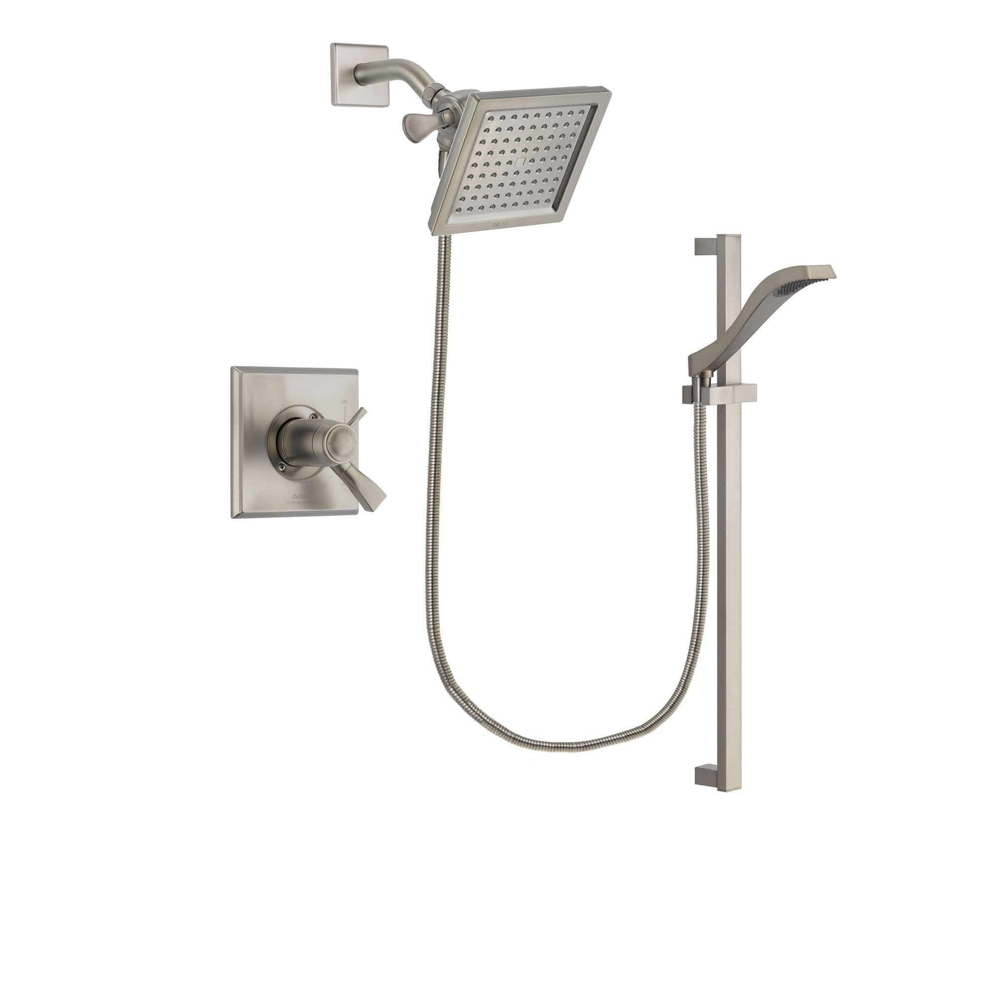Delta Dryden Stainless Steel Finish Shower Faucet System w/ Hand Spray DSP2238V