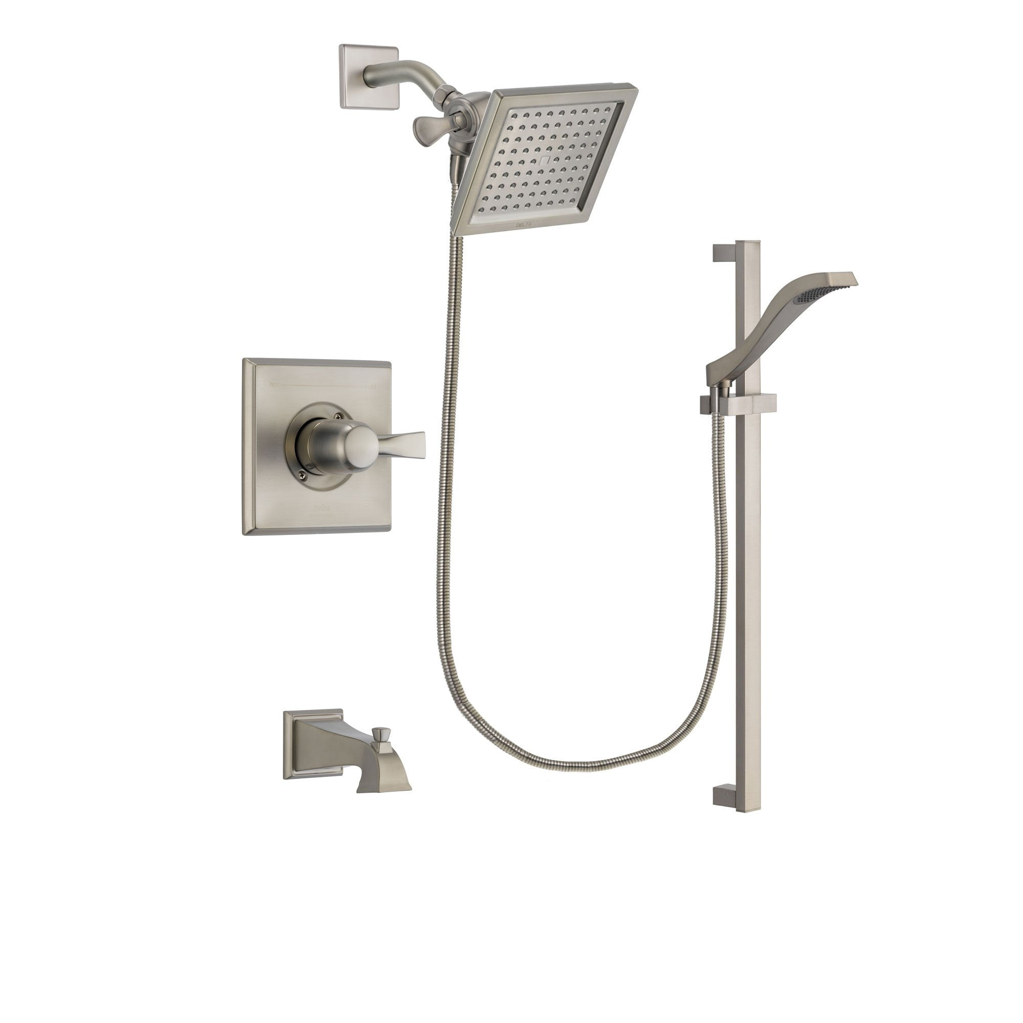 Delta Dryden Stainless Steel Finish Tub and Shower System w/Hand Shower DSP2243V