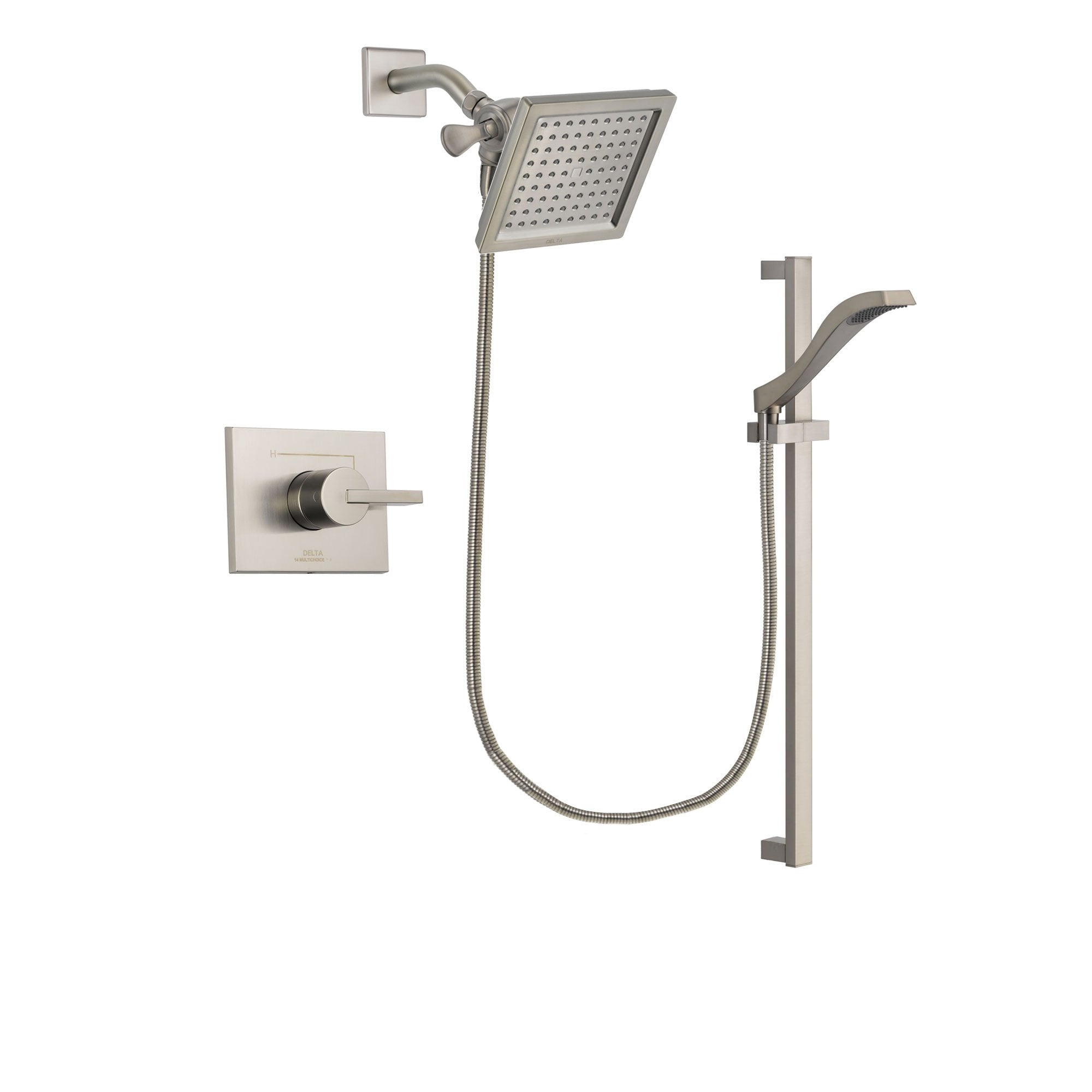 Delta Vero Stainless Steel Finish Shower Faucet System with Hand Shower DSP2246V