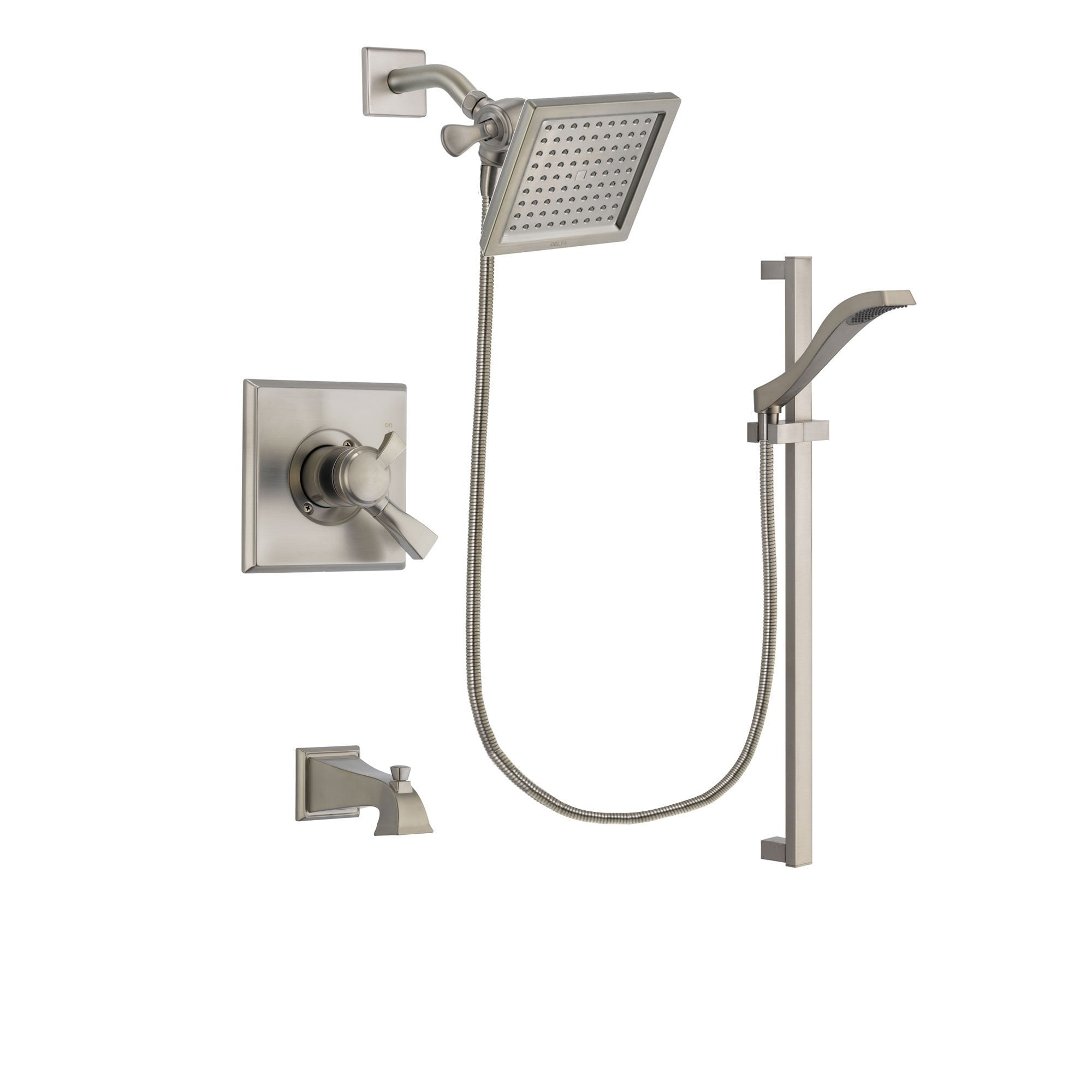 Delta Dryden Stainless Steel Finish Tub and Shower System w/Hand Shower DSP2249V