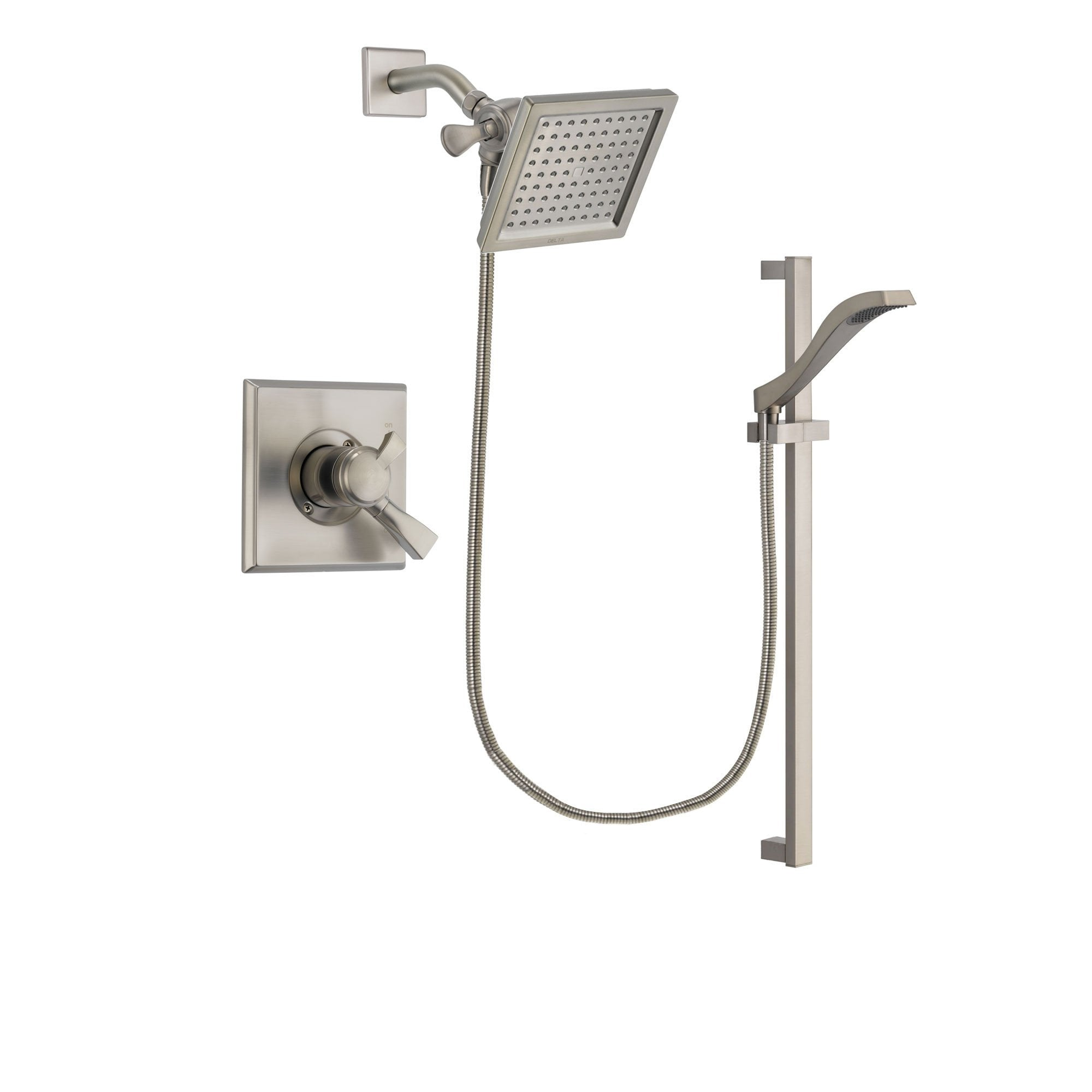 Delta Dryden Stainless Steel Finish Shower Faucet System w/ Hand Spray DSP2250V
