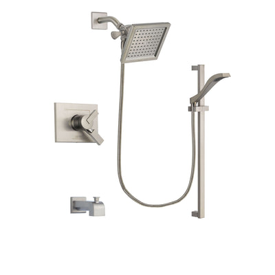Delta Vero Stainless Steel Finish Tub and Shower System with Hand Spray DSP2251V