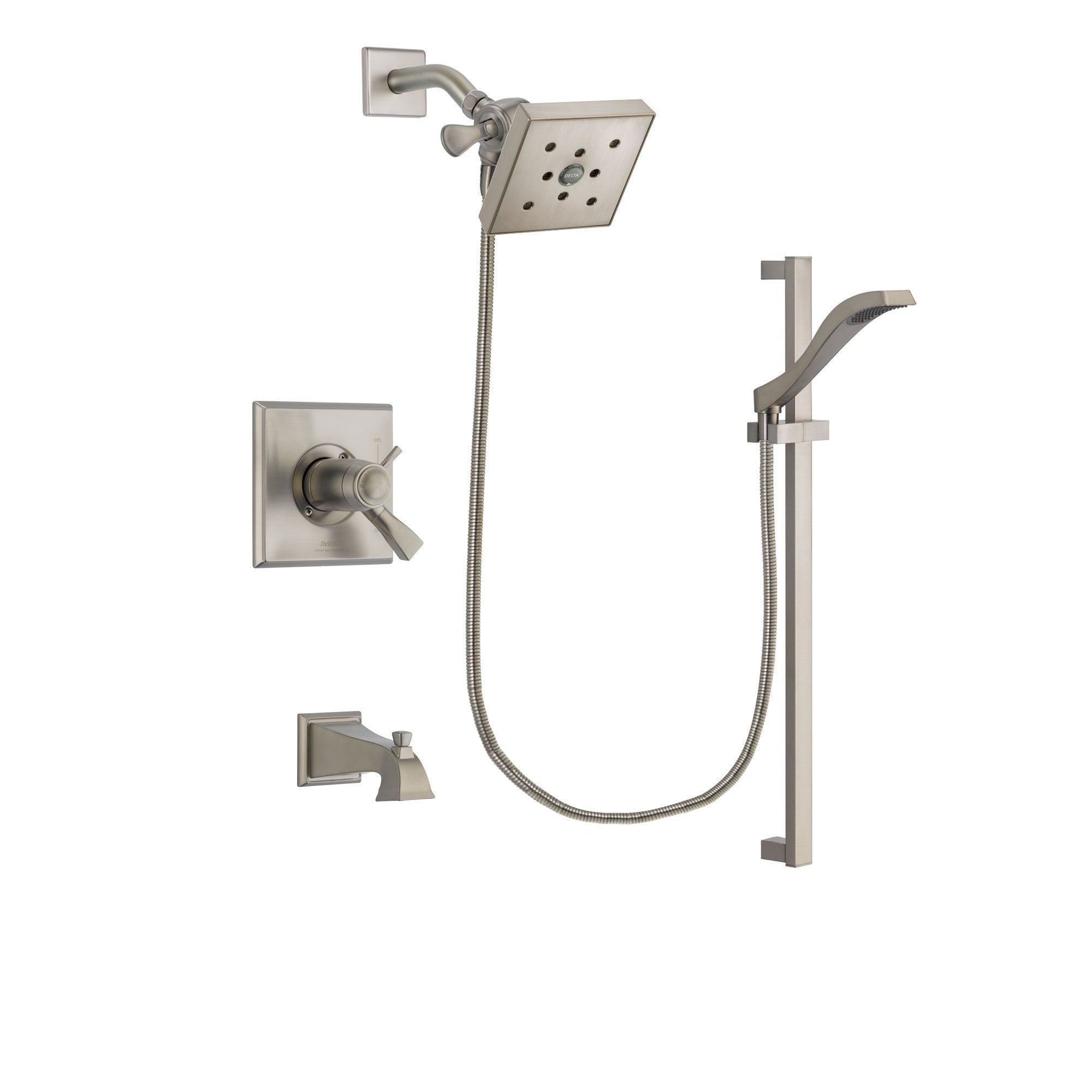 Delta Dryden Stainless Steel Finish Tub and Shower System w/Hand Shower DSP2255V