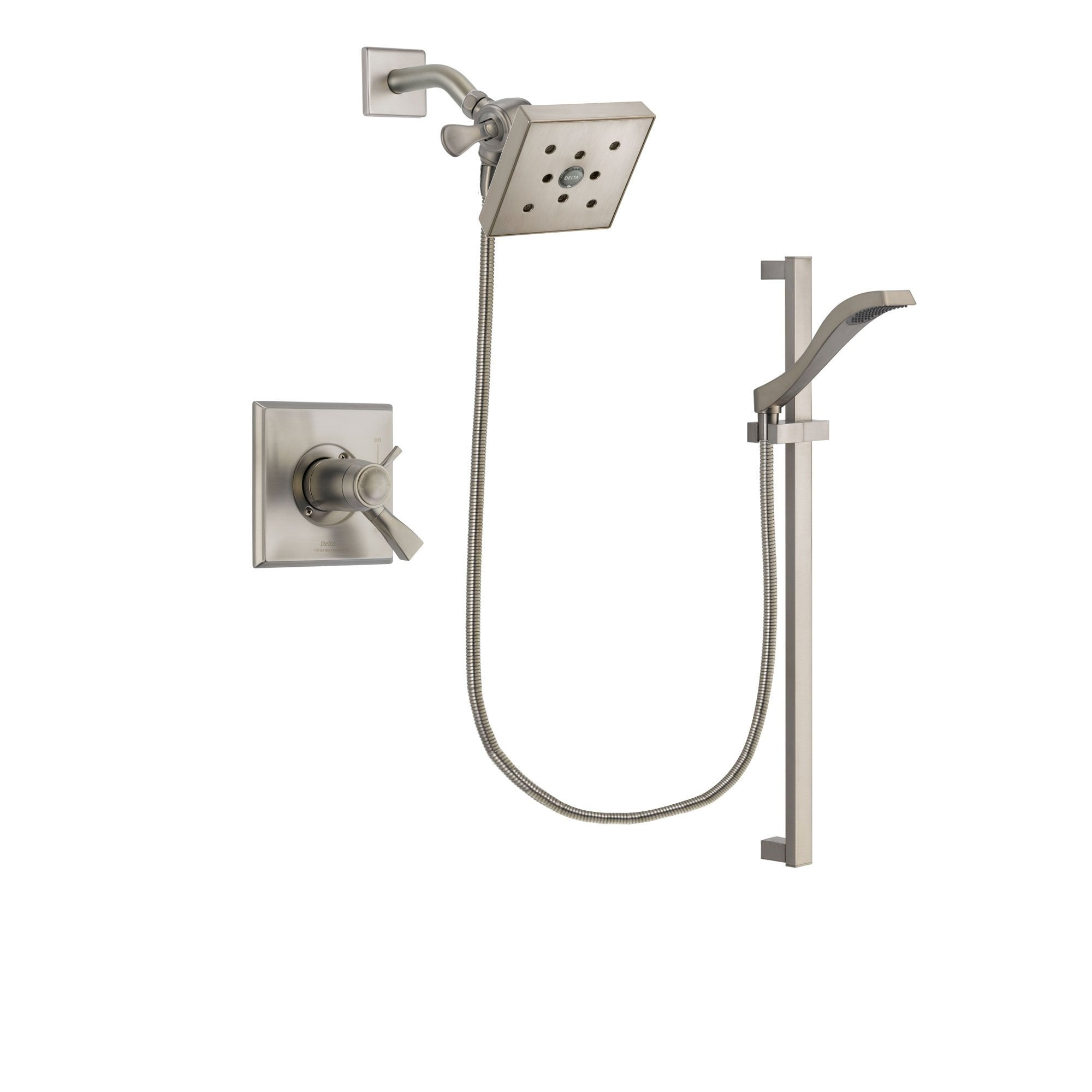 Delta Dryden Stainless Steel Finish Shower Faucet System w/ Hand Spray DSP2256V
