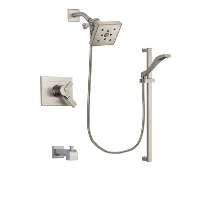 Delta Vero Stainless Steel Finish Tub and Shower System with Hand Spray DSP2269V