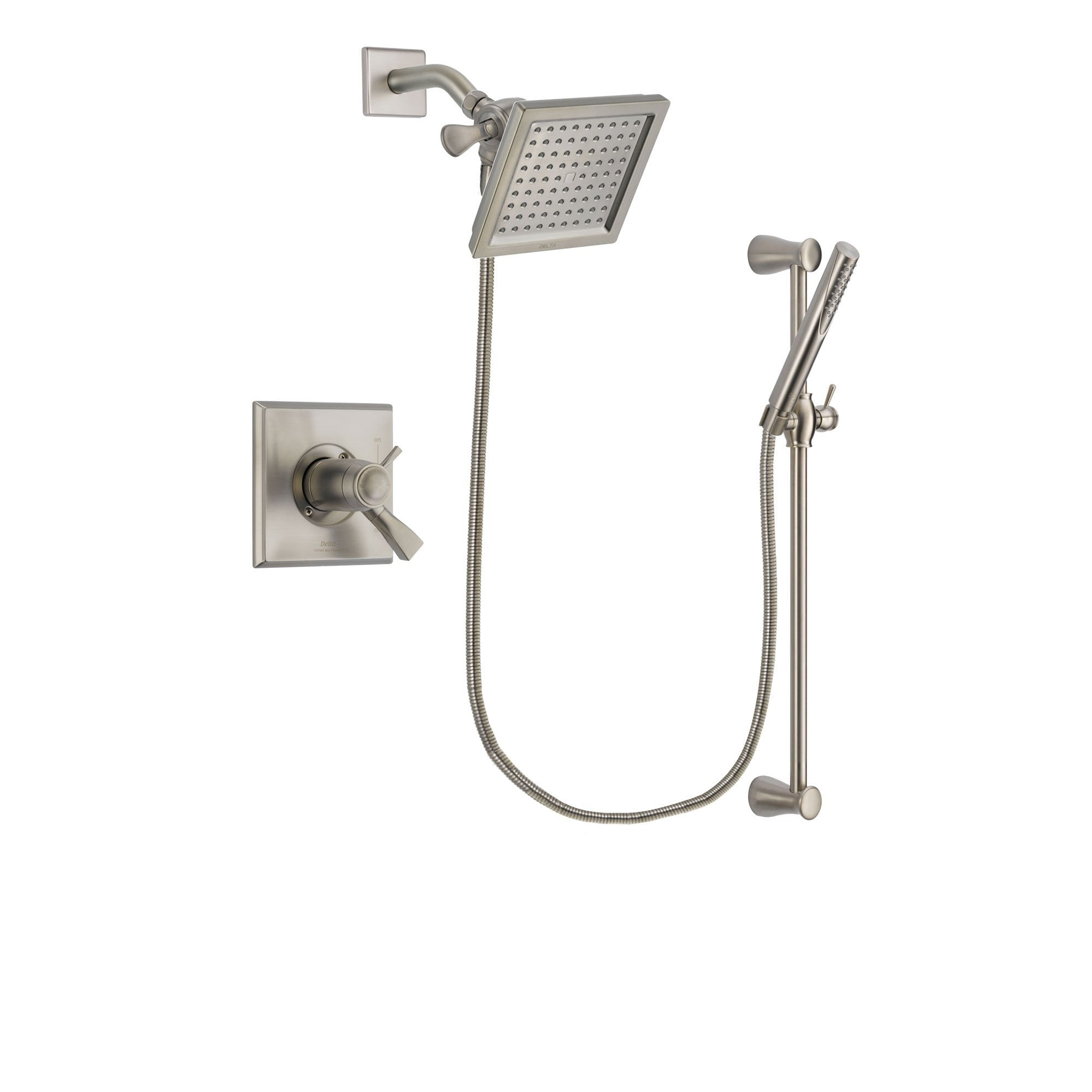 Delta Dryden Stainless Steel Finish Shower Faucet System w/ Hand Spray DSP2292V