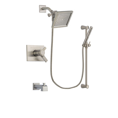 Delta Vero Stainless Steel Finish Tub and Shower System with Hand Spray DSP2293V