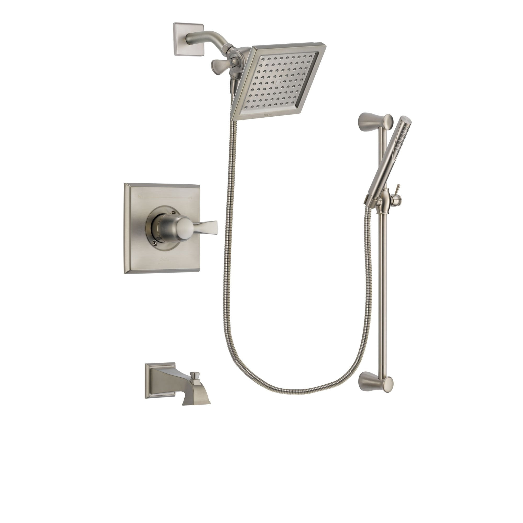 Delta Dryden Stainless Steel Finish Tub and Shower System w/Hand Shower DSP2297V