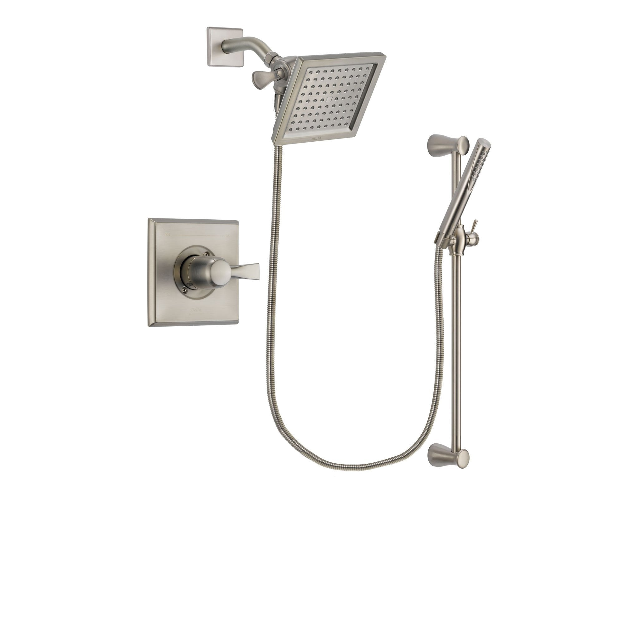 Delta Dryden Stainless Steel Finish Shower Faucet System w/ Hand Spray DSP2298V