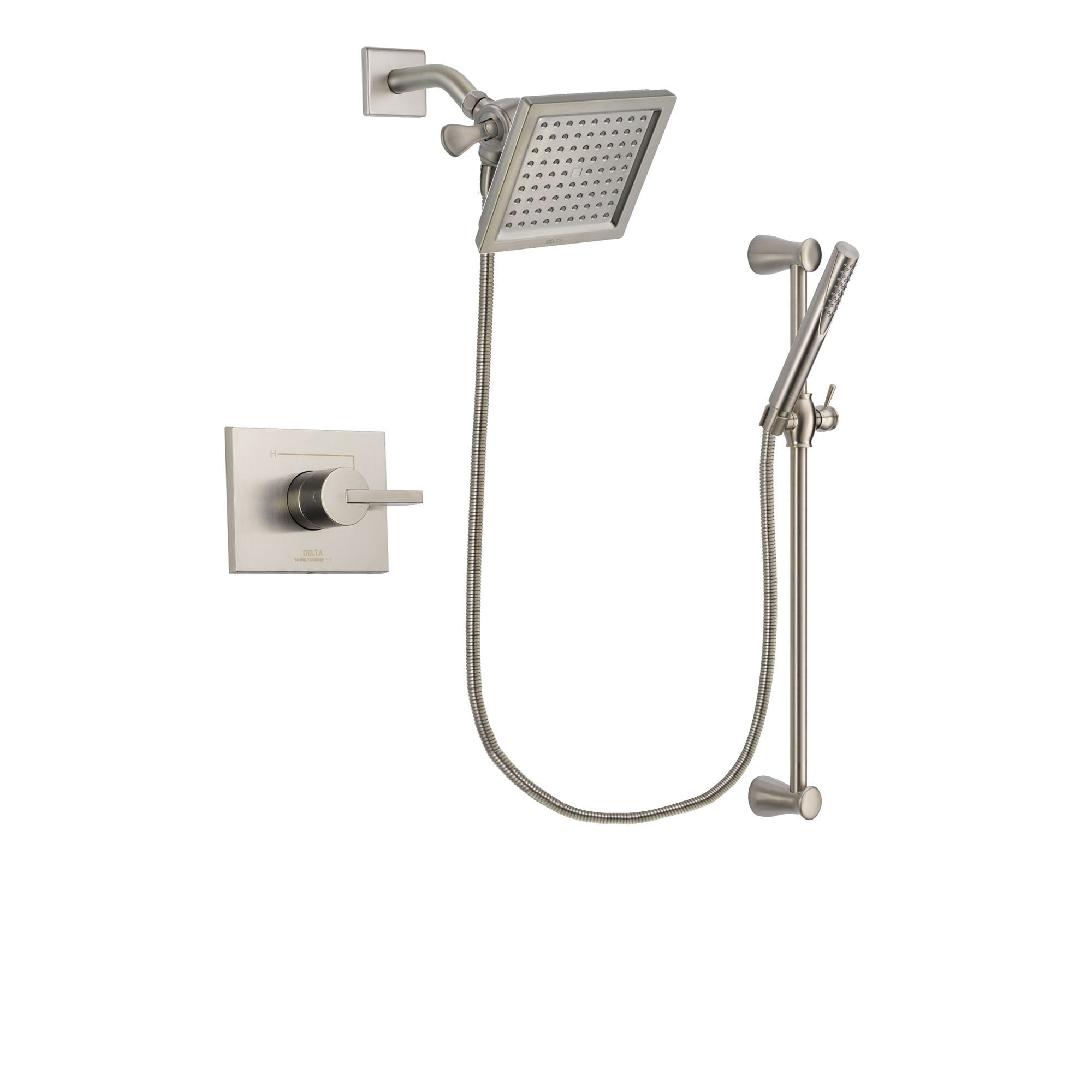 Delta Vero Stainless Steel Finish Shower Faucet System with Hand Shower DSP2300V