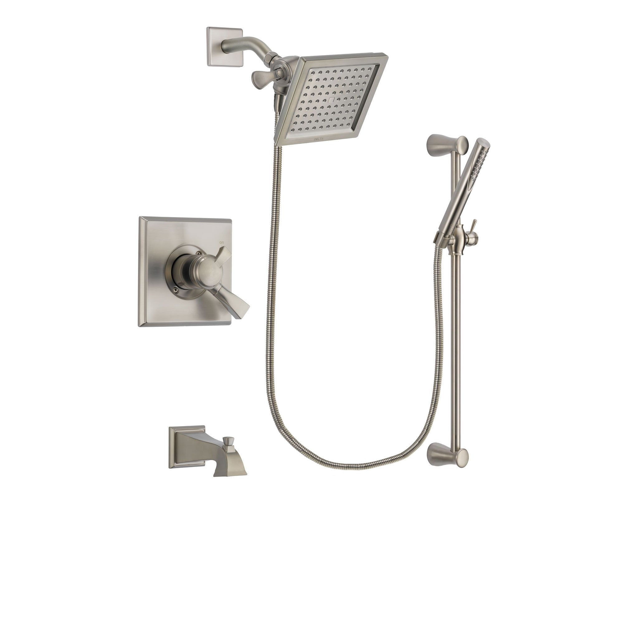 Delta Dryden Stainless Steel Finish Tub and Shower System w/Hand Shower DSP2303V
