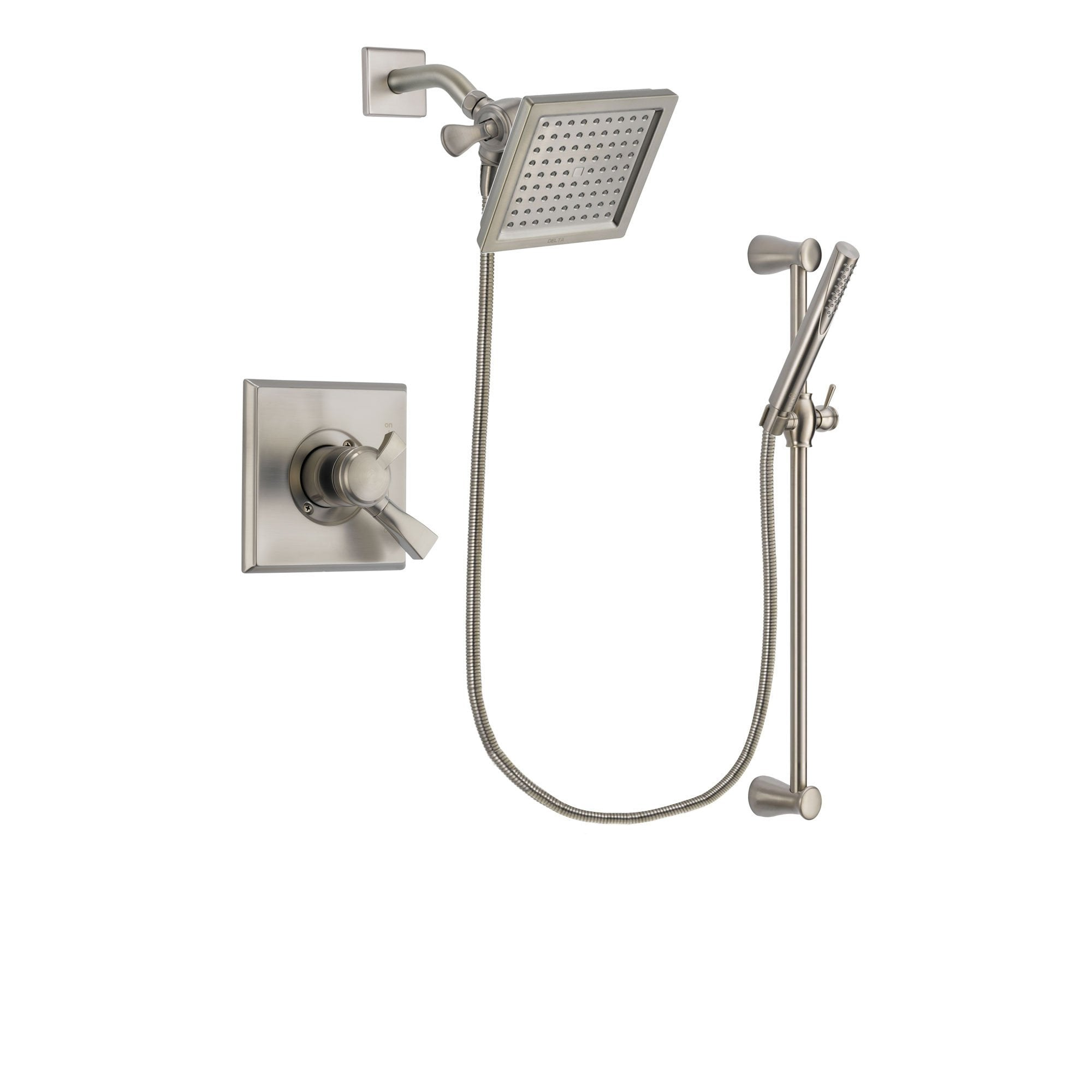 Delta Dryden Stainless Steel Finish Shower Faucet System w/ Hand Spray DSP2304V