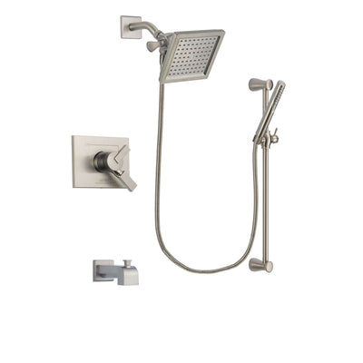 Delta Vero Stainless Steel Finish Tub and Shower System with Hand Spray DSP2305V