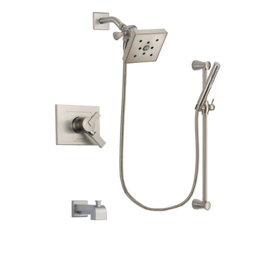 Delta Vero Stainless Steel Finish Tub and Shower System with Hand Spray DSP2323V