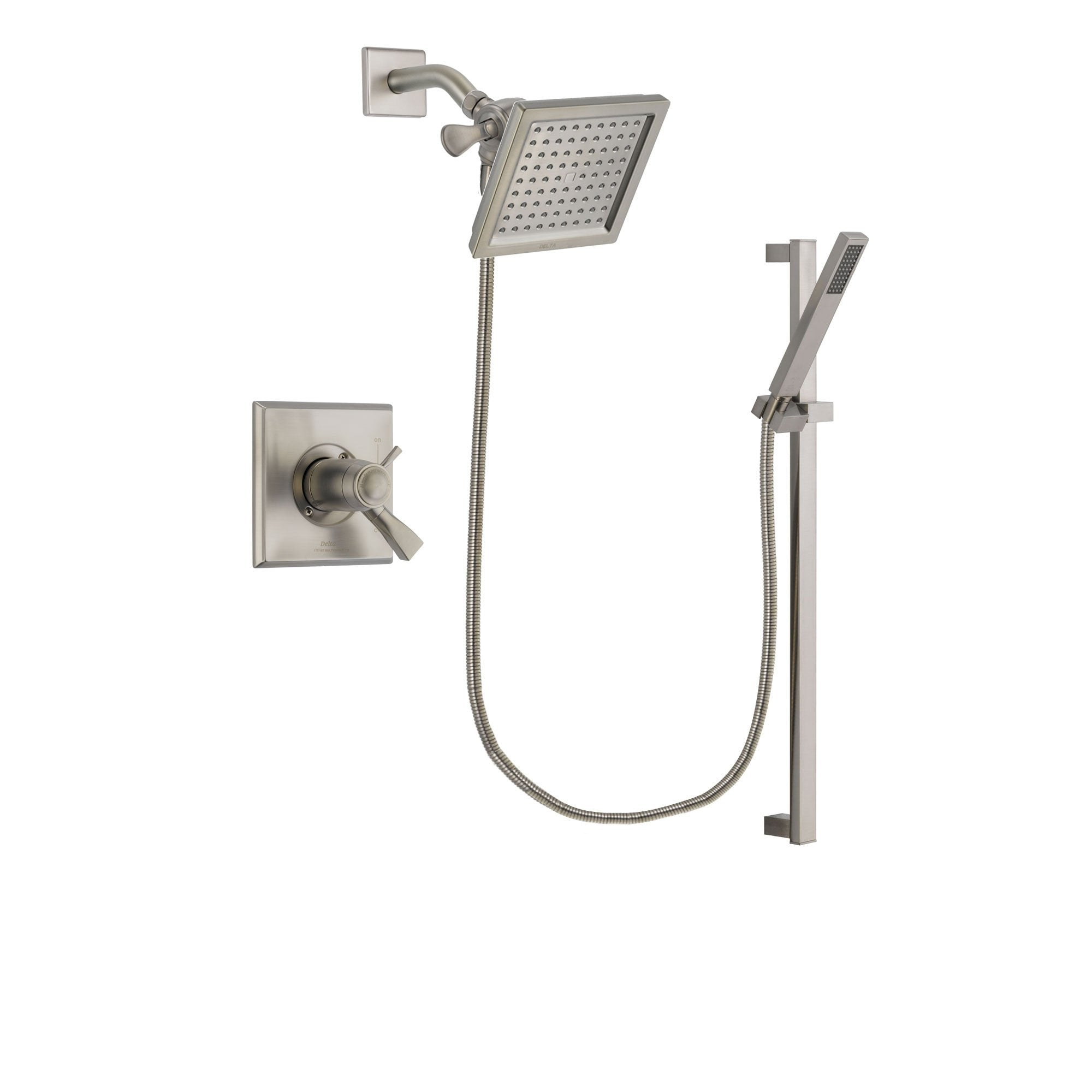 Delta Dryden Stainless Steel Finish Shower Faucet System w/ Hand Spray DSP2346V