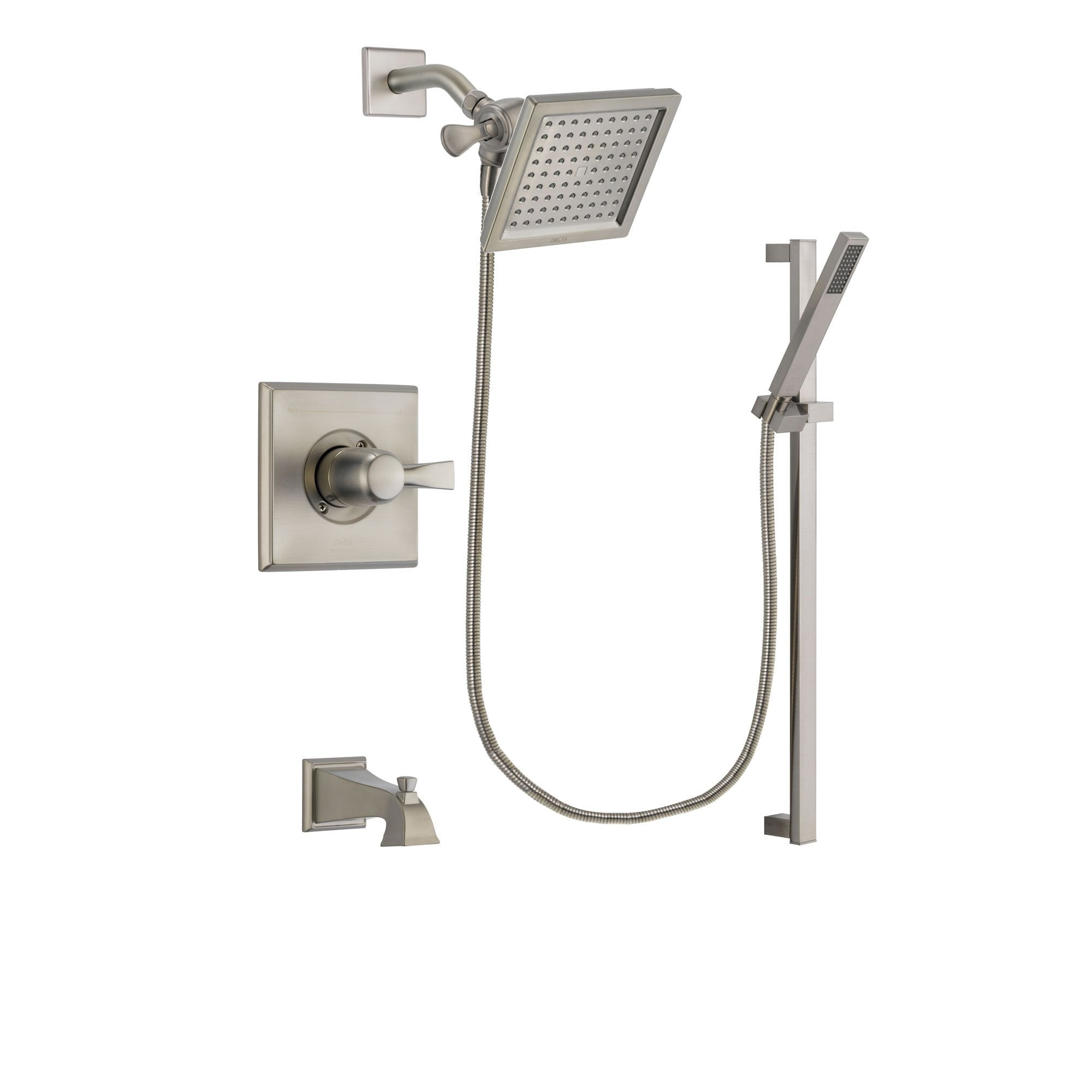 Delta Dryden Stainless Steel Finish Tub and Shower System w/Hand Shower DSP2351V