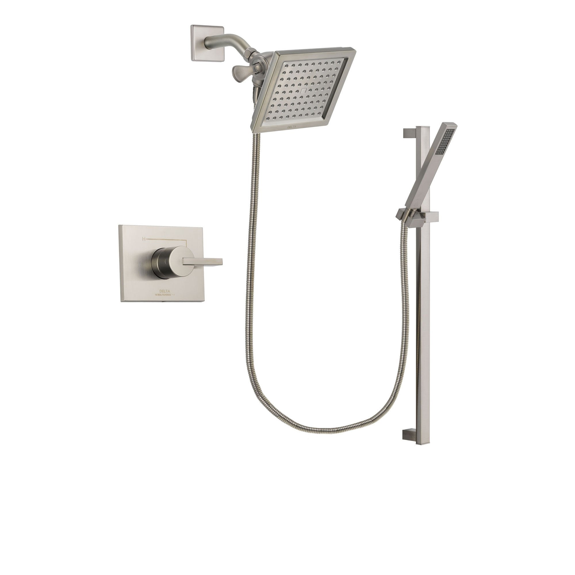 Delta Vero Stainless Steel Finish Shower Faucet System with Hand Shower DSP2354V