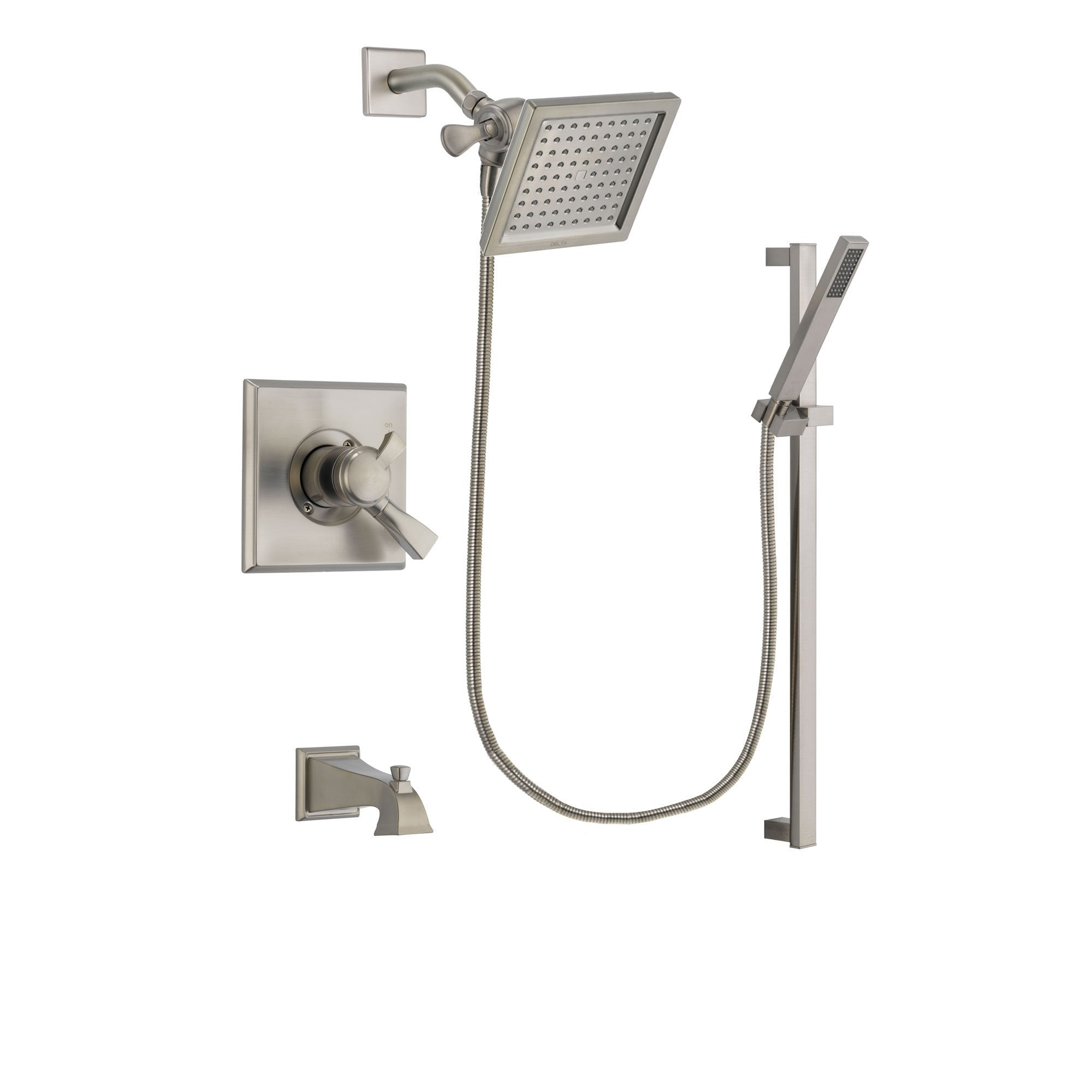 Delta Dryden Stainless Steel Finish Tub and Shower System w/Hand Shower DSP2357V