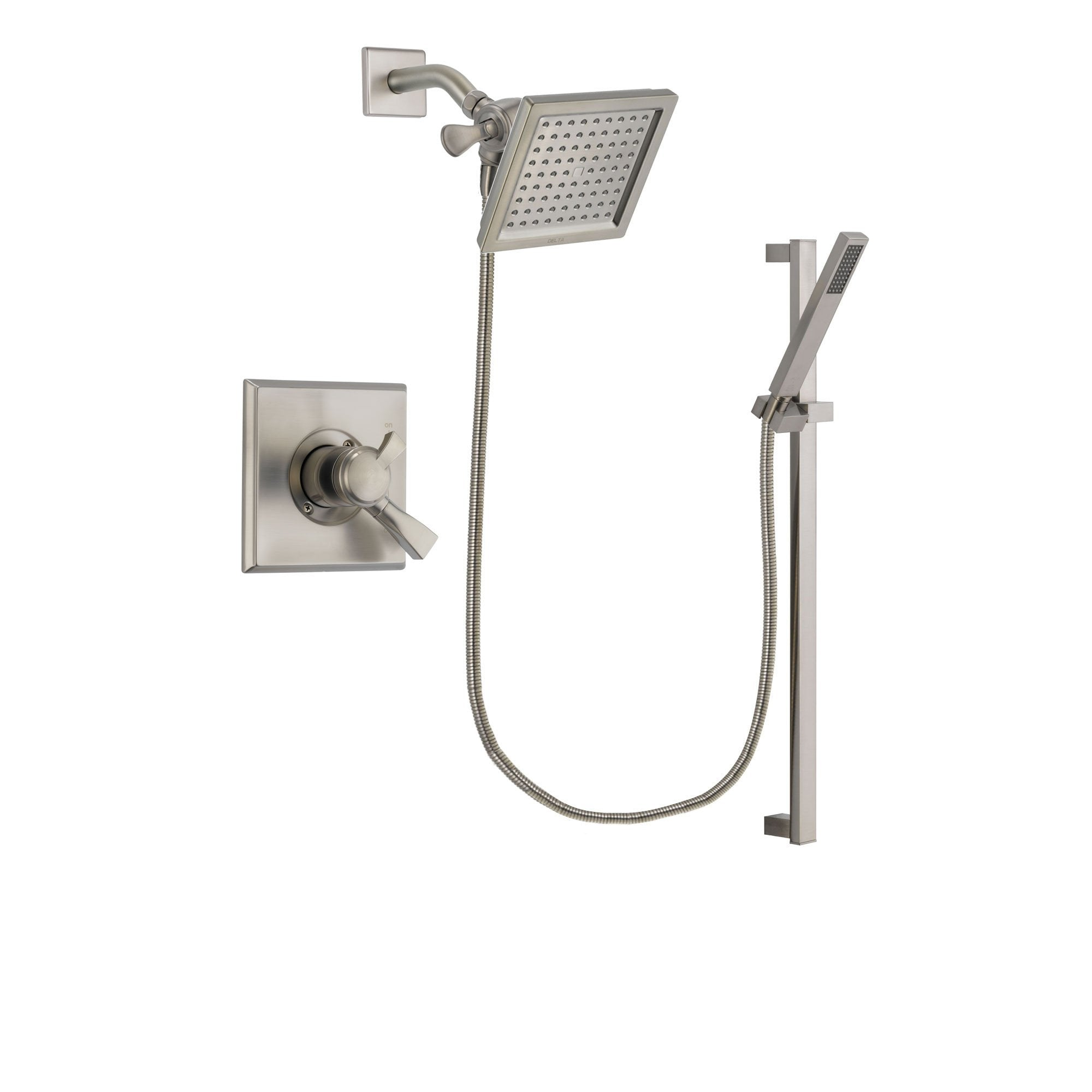 Delta Dryden Stainless Steel Finish Shower Faucet System w/ Hand Spray DSP2358V