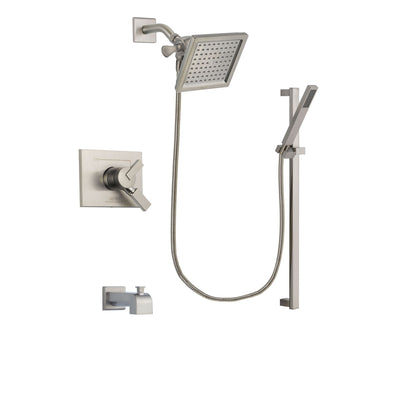 Delta Vero Stainless Steel Finish Tub and Shower System with Hand Spray DSP2359V