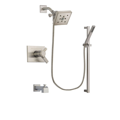 Delta Vero Stainless Steel Finish Tub and Shower System with Hand Spray DSP2365V