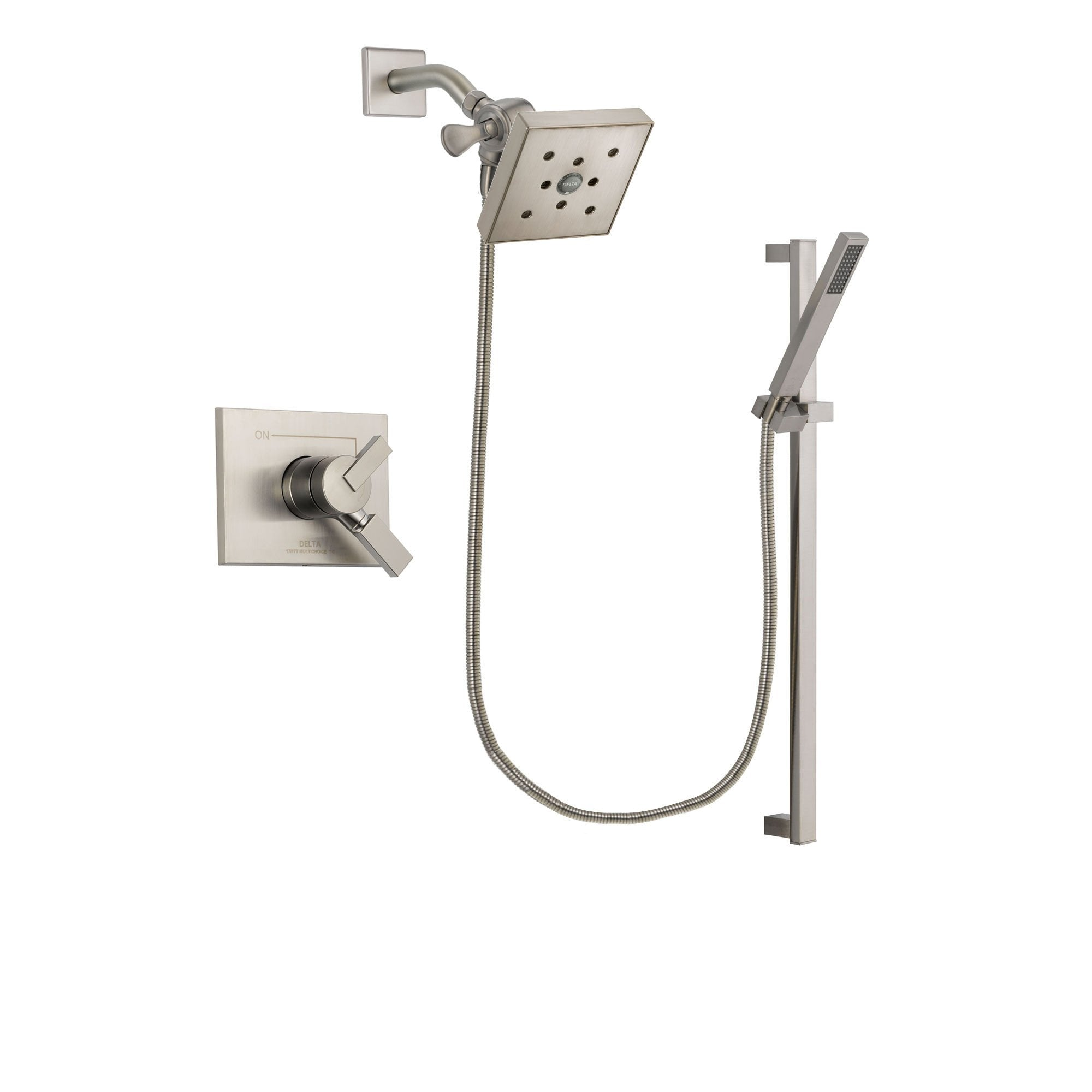 Delta Vero Stainless Steel Finish Shower Faucet System with Hand Shower DSP2378V