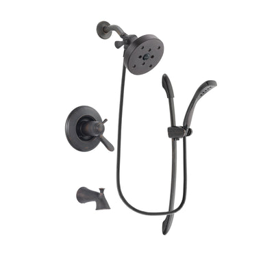 Delta Lahara Venetian Bronze Finish Thermostatic Tub and Shower Faucet System Package with 5-1/2 inch Showerhead and 1-Spray Handshower with Slide Bar Includes Rough-in Valve and Tub Spout DSP2471V
