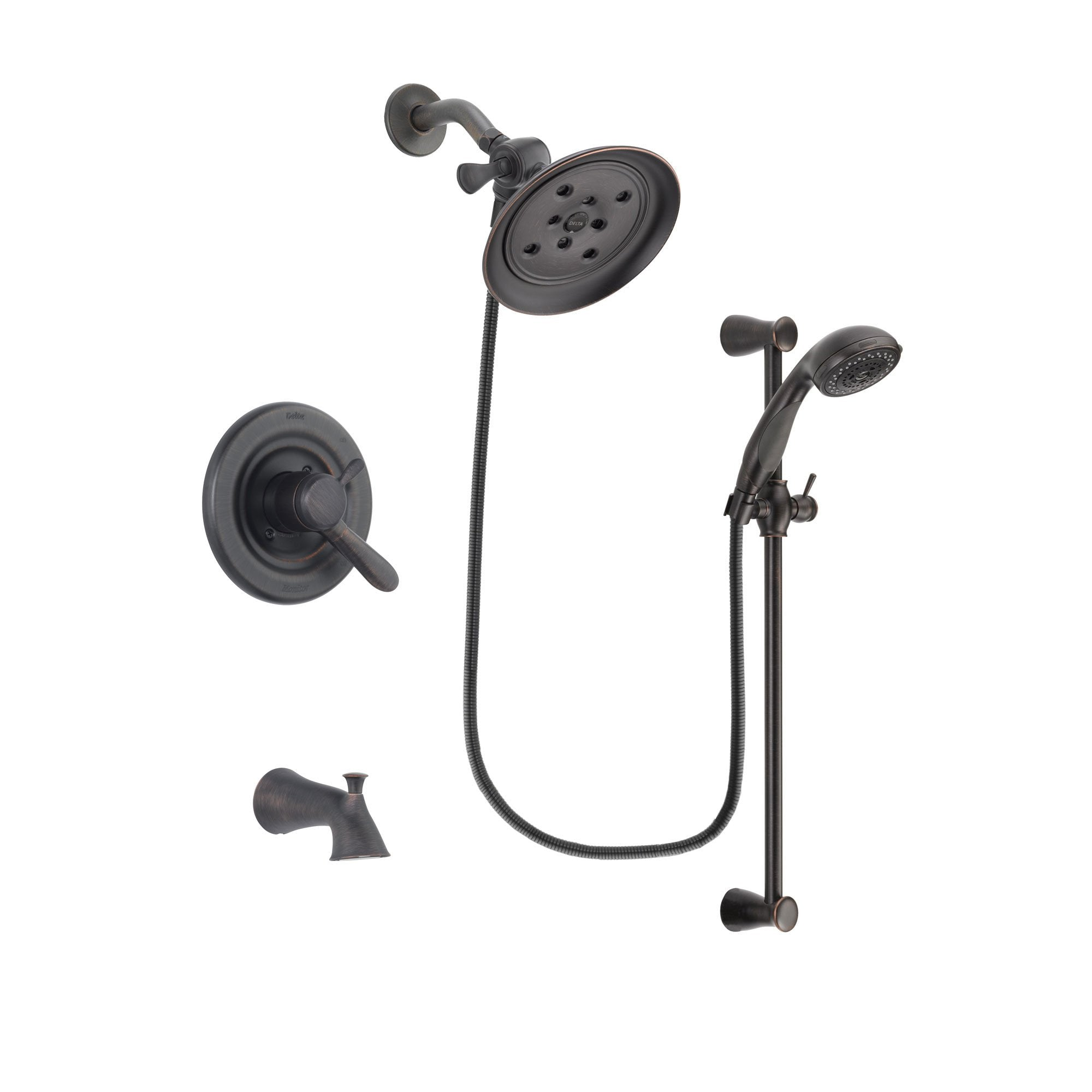 Delta Lahara Venetian Bronze Tub and Shower Faucet System w/Hand Shower DSP2699V