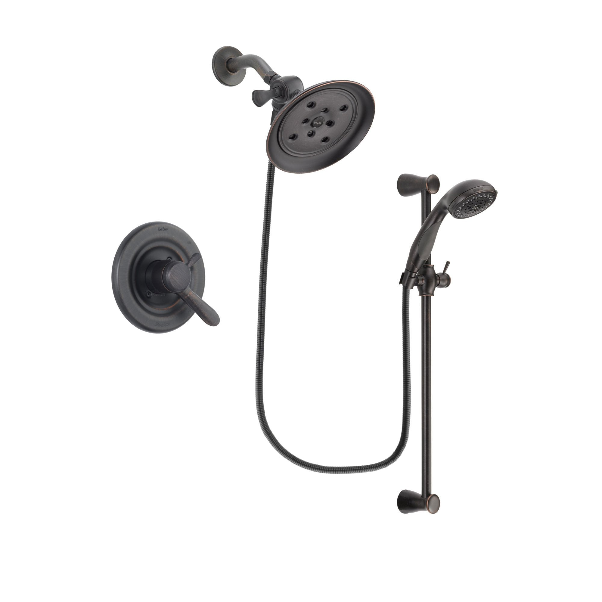 Delta Lahara Venetian Bronze Shower Faucet System with Hand Shower DSP2700V