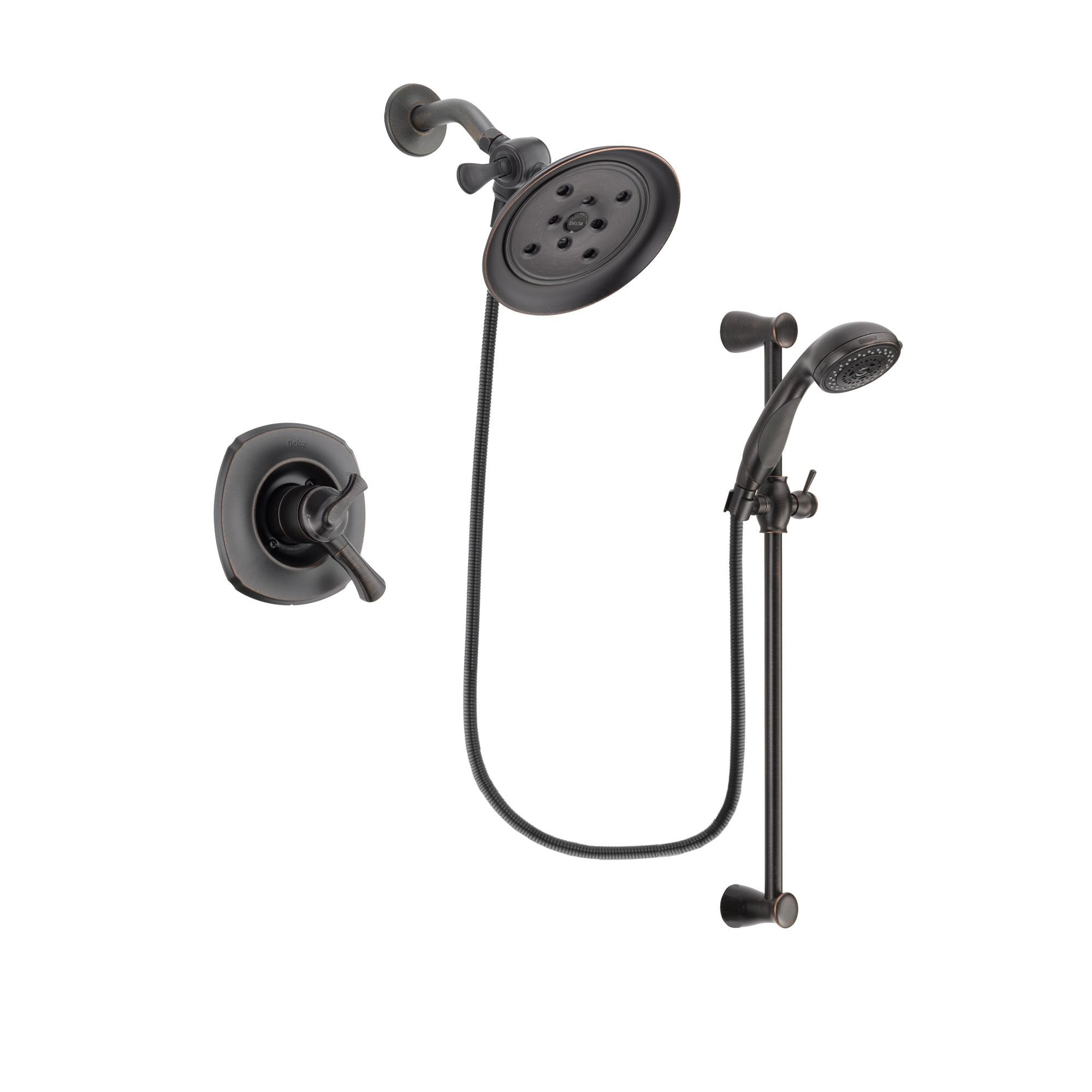 Delta Addison Venetian Bronze Shower Faucet System with Hand Shower DSP2706V