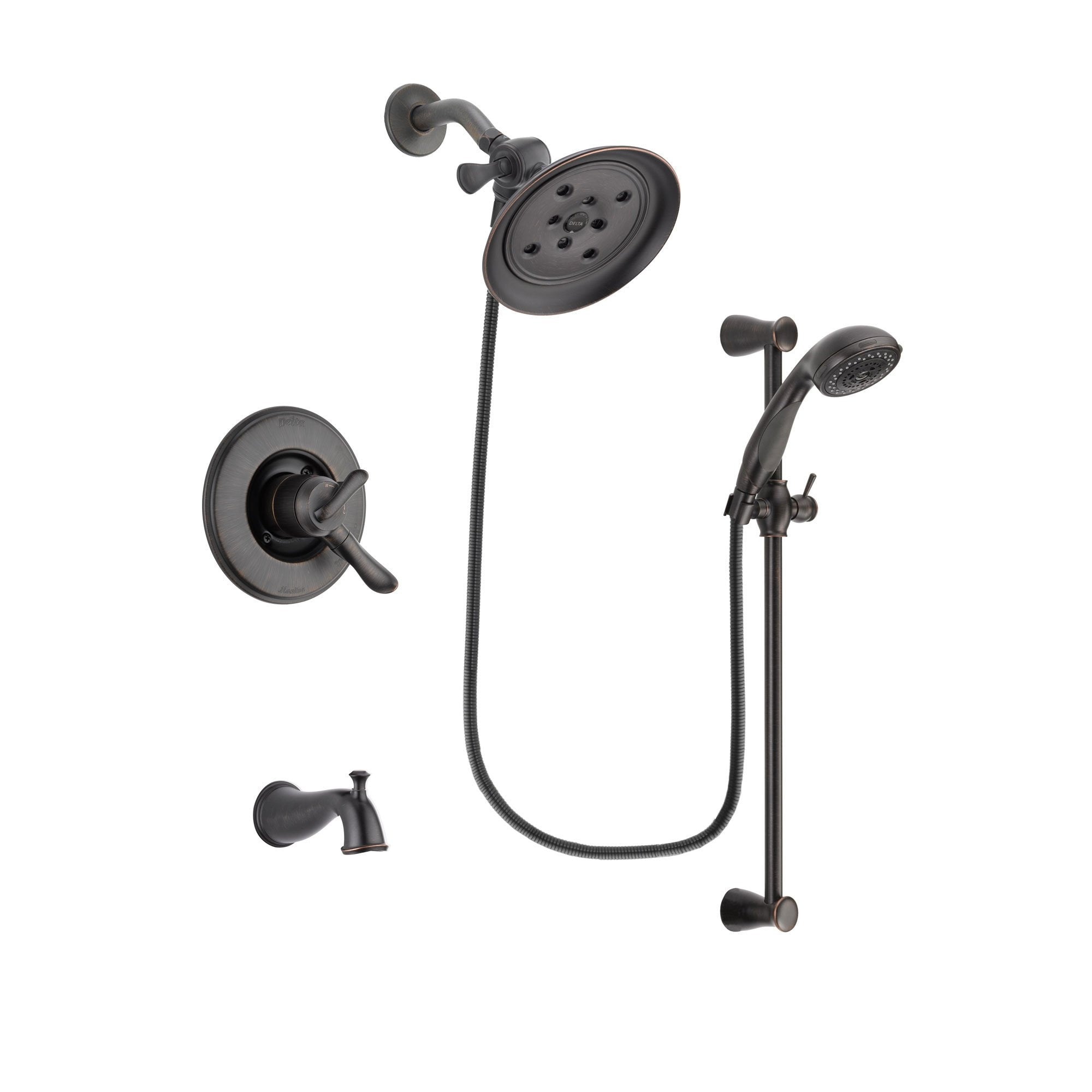 Delta Linden Venetian Bronze Tub and Shower Faucet System w/Hand Shower DSP2707V