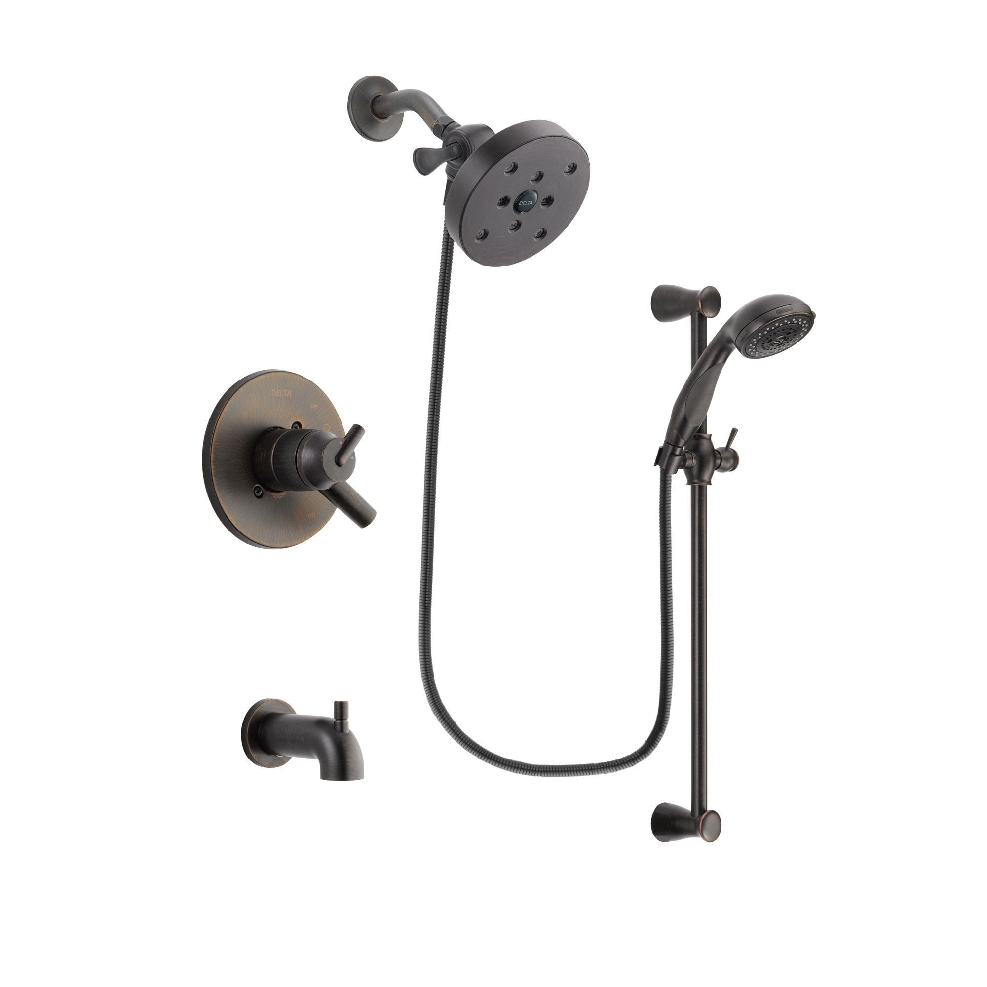 Delta Trinsic Venetian Bronze Tub and Shower System with Hand Shower DSP2731V