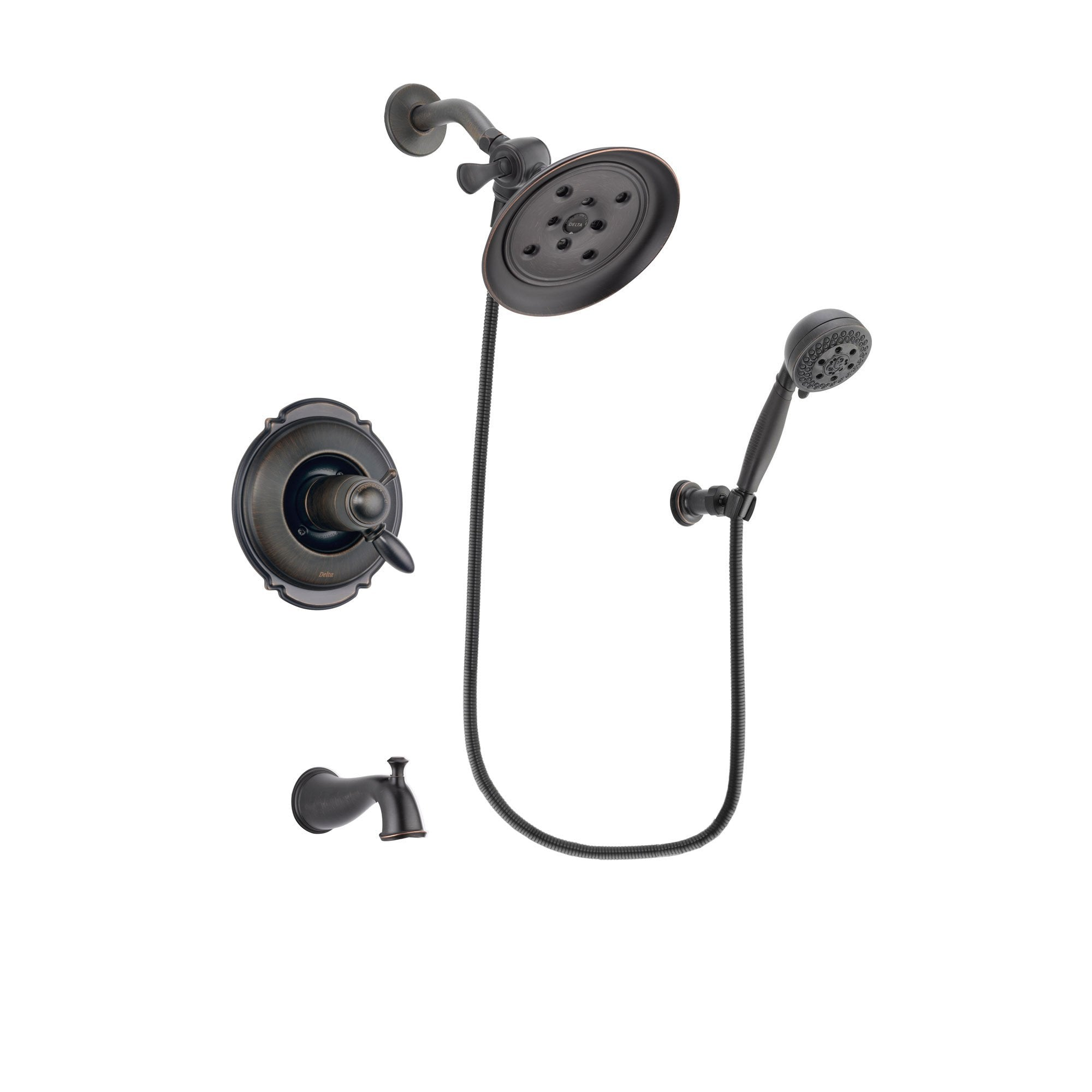 Delta Victorian Venetian Bronze Tub and Shower System with Hand Shower DSP2803V