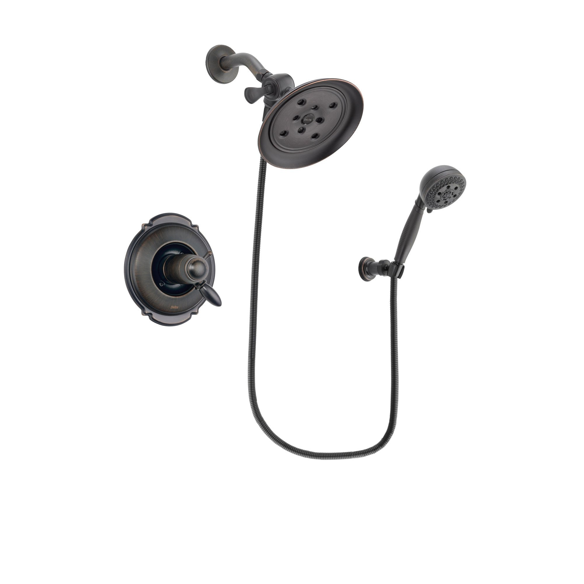Delta Victorian Venetian Bronze Shower Faucet System with Hand Shower DSP2804V
