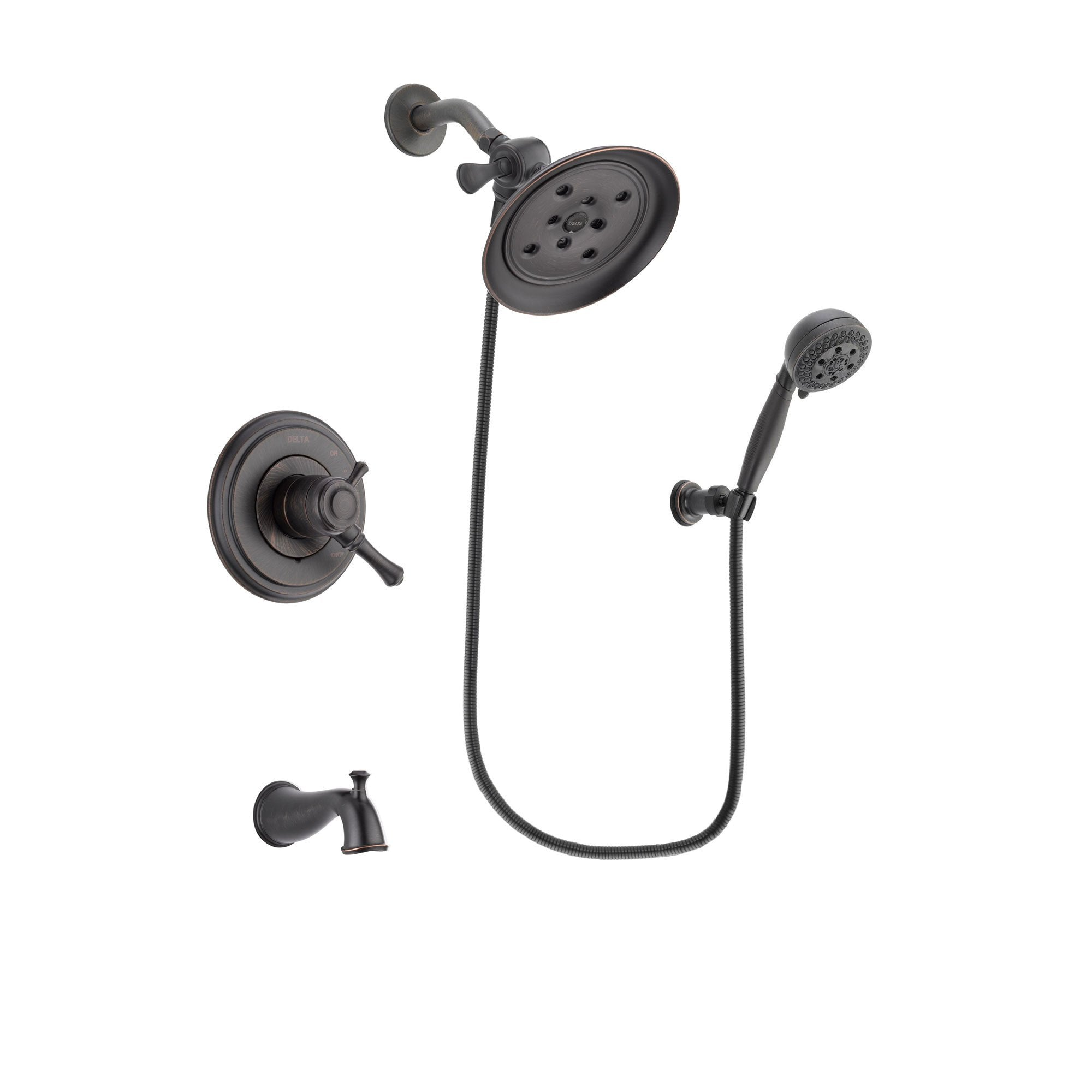 Delta Cassidy Venetian Bronze Tub and Shower System with Hand Shower DSP2829V