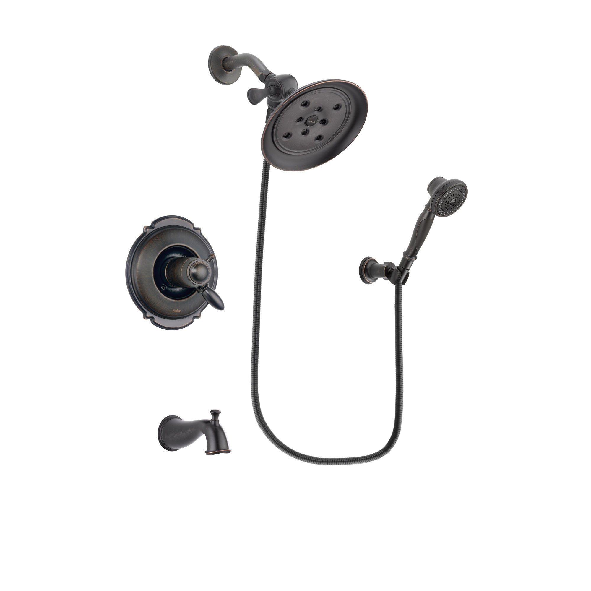Delta Victorian Venetian Bronze Tub and Shower System with Hand Shower DSP3043V